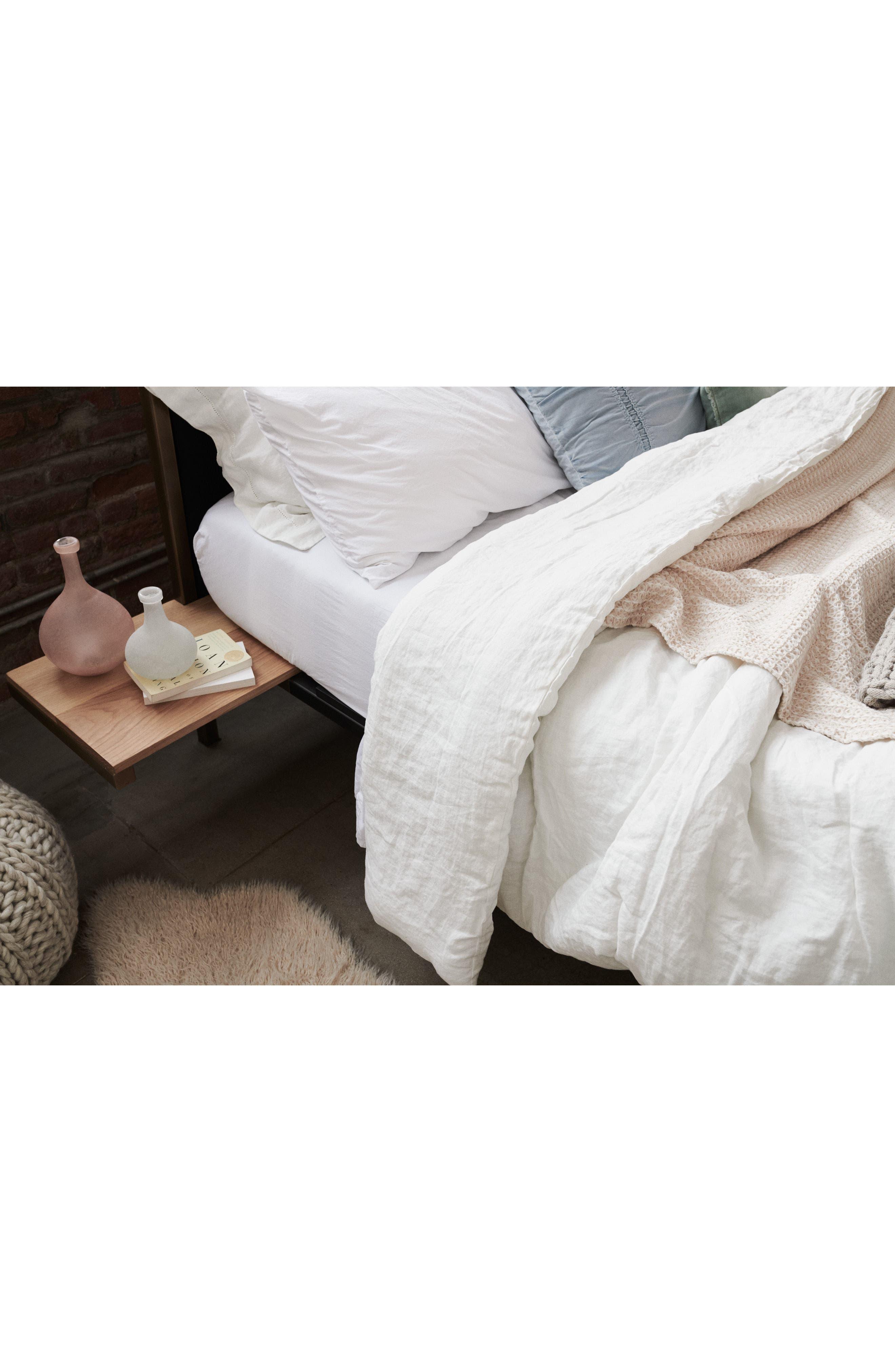 Relaxed Cotton & Linen Duvet Cover,                             Alternate thumbnail 7, color,                             OLIVE SPICE