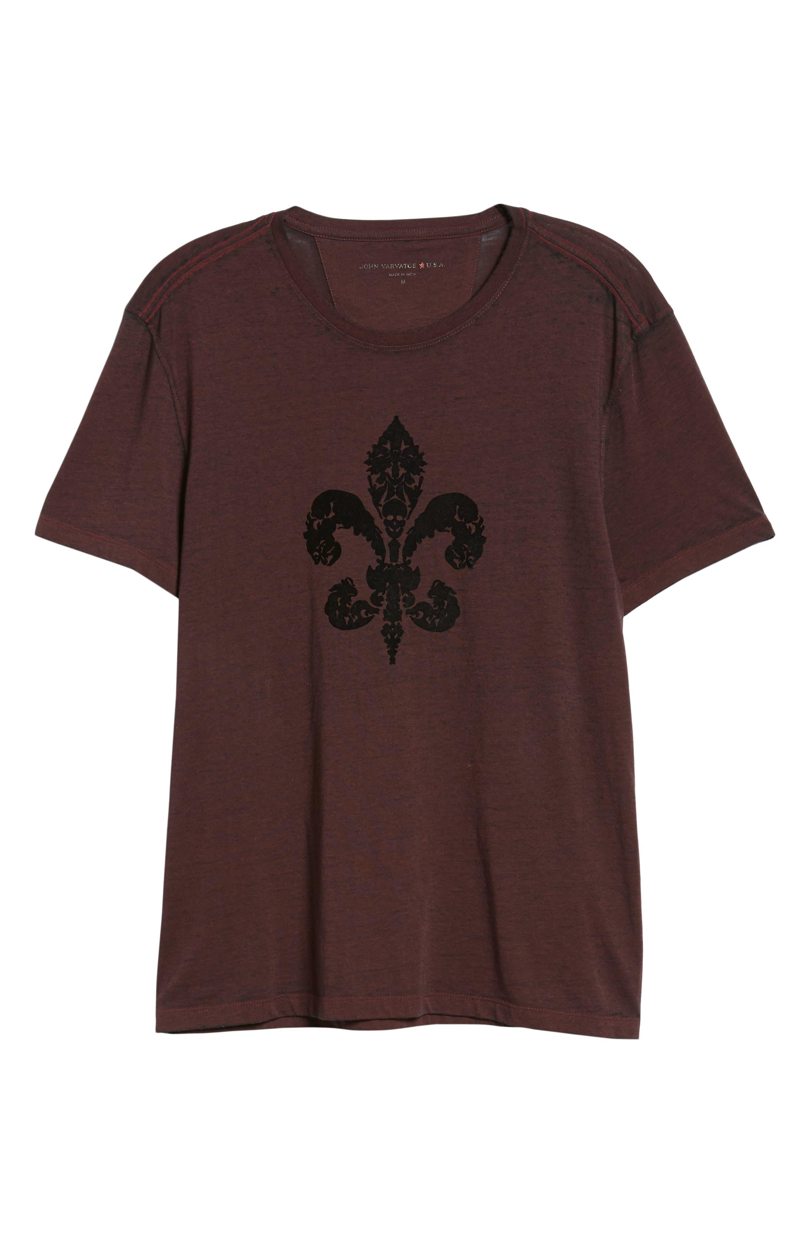 Fleur de Lis Graphic T-Shirt,                             Alternate thumbnail 6, color,                             930