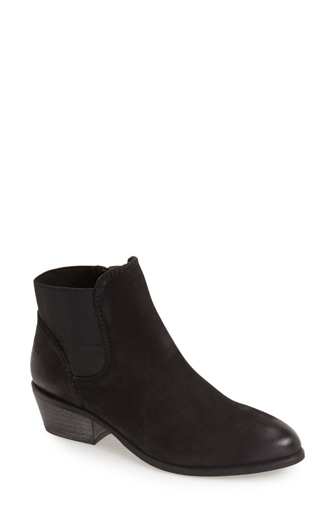'Rozamare' Leather Ankle Bootie,                             Main thumbnail 1, color,                             001