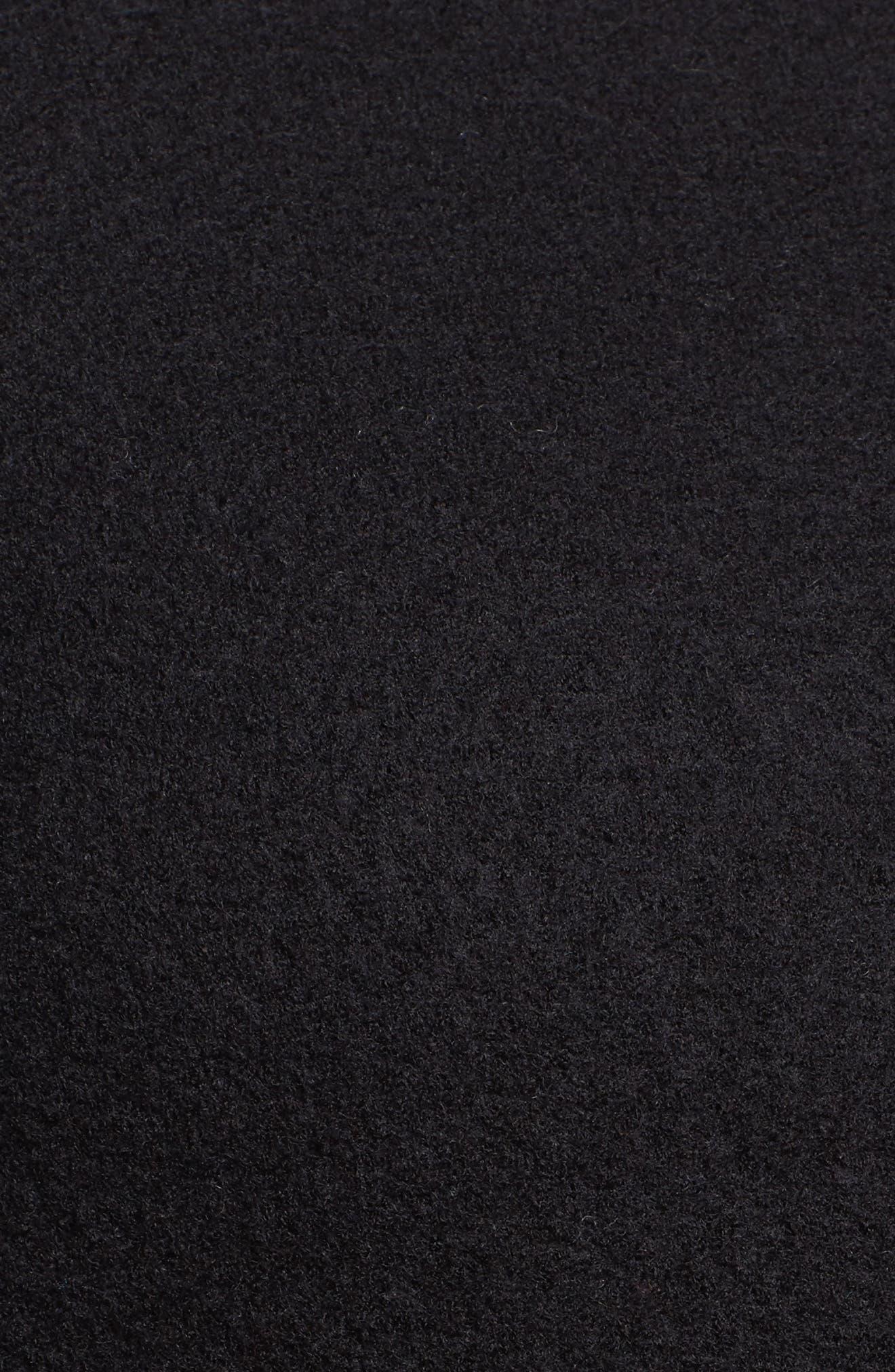 Boiled Wool Moto Jacket,                             Alternate thumbnail 6, color,                             001