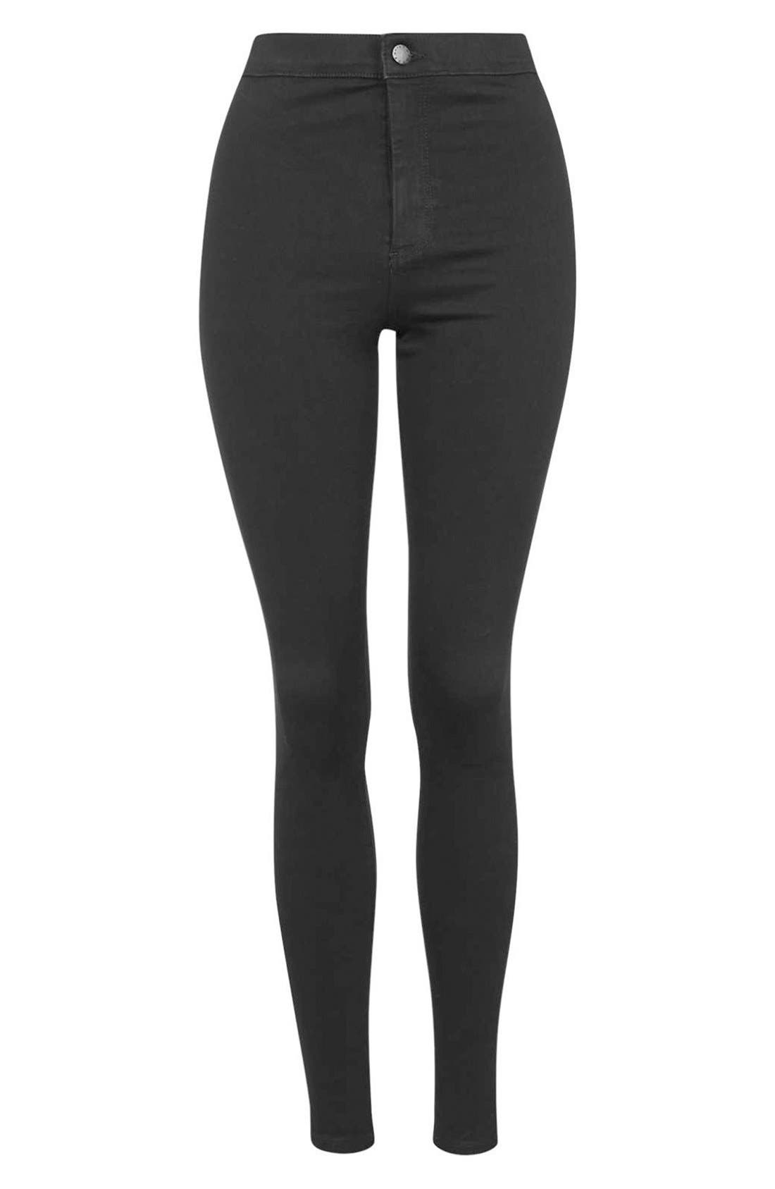 Moto 'Joni' High Rise Skinny Jeans,                             Alternate thumbnail 3, color,                             001