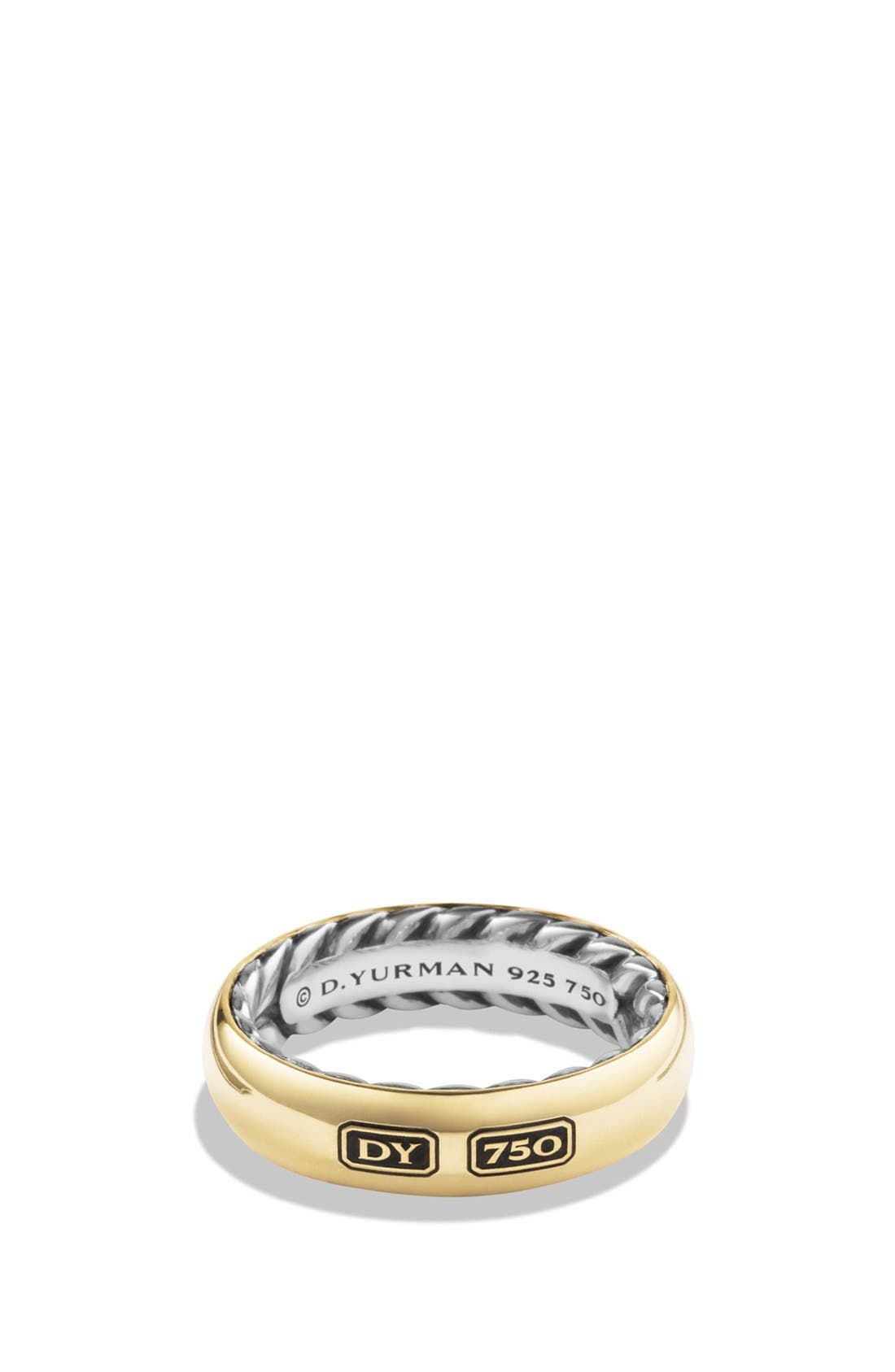 'Streamline' Band with Gold,                             Main thumbnail 1, color,                             TWO TONE