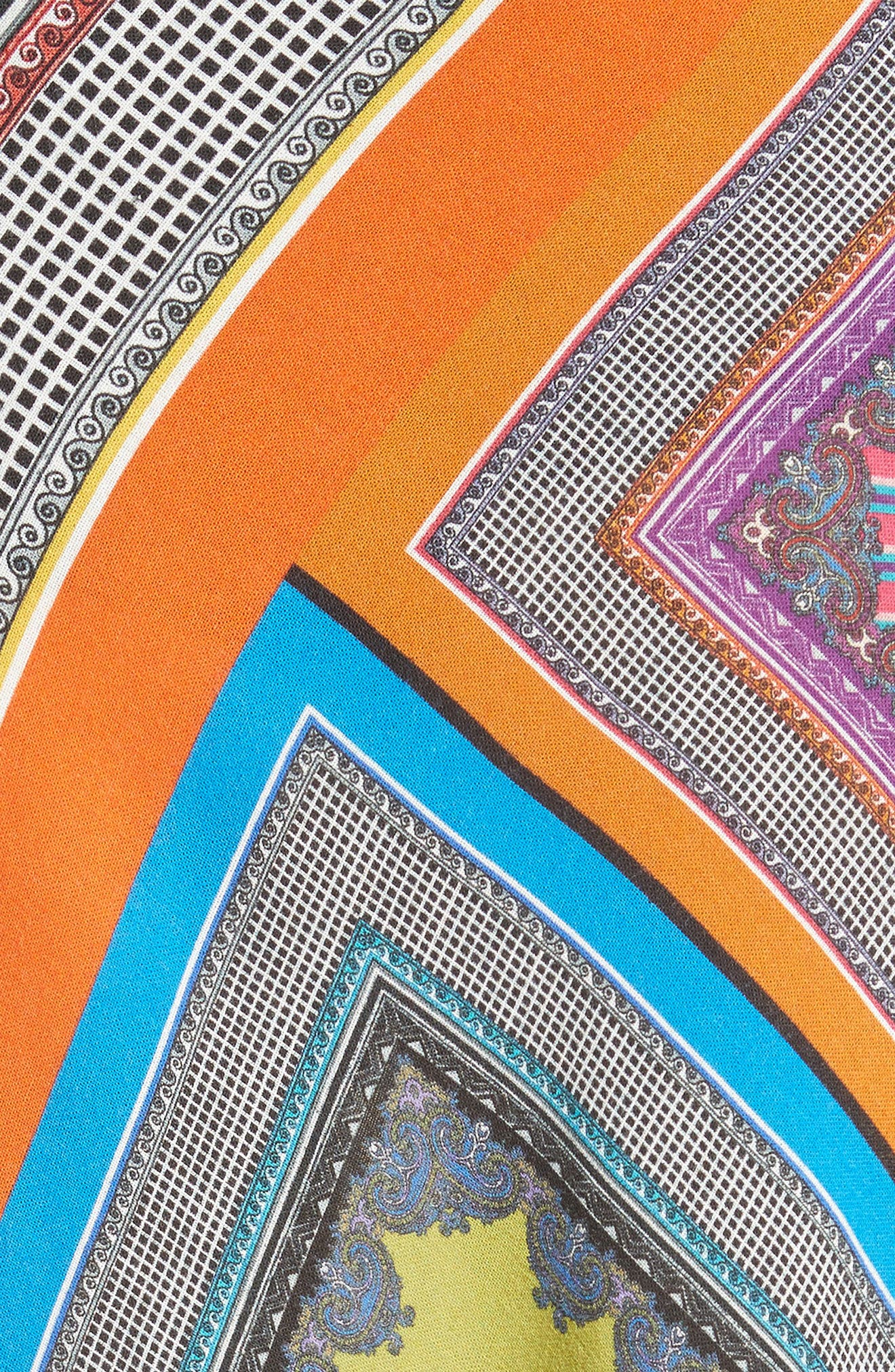 Patchwork Print Asymmetrical Skirt,                             Alternate thumbnail 5, color,                             800