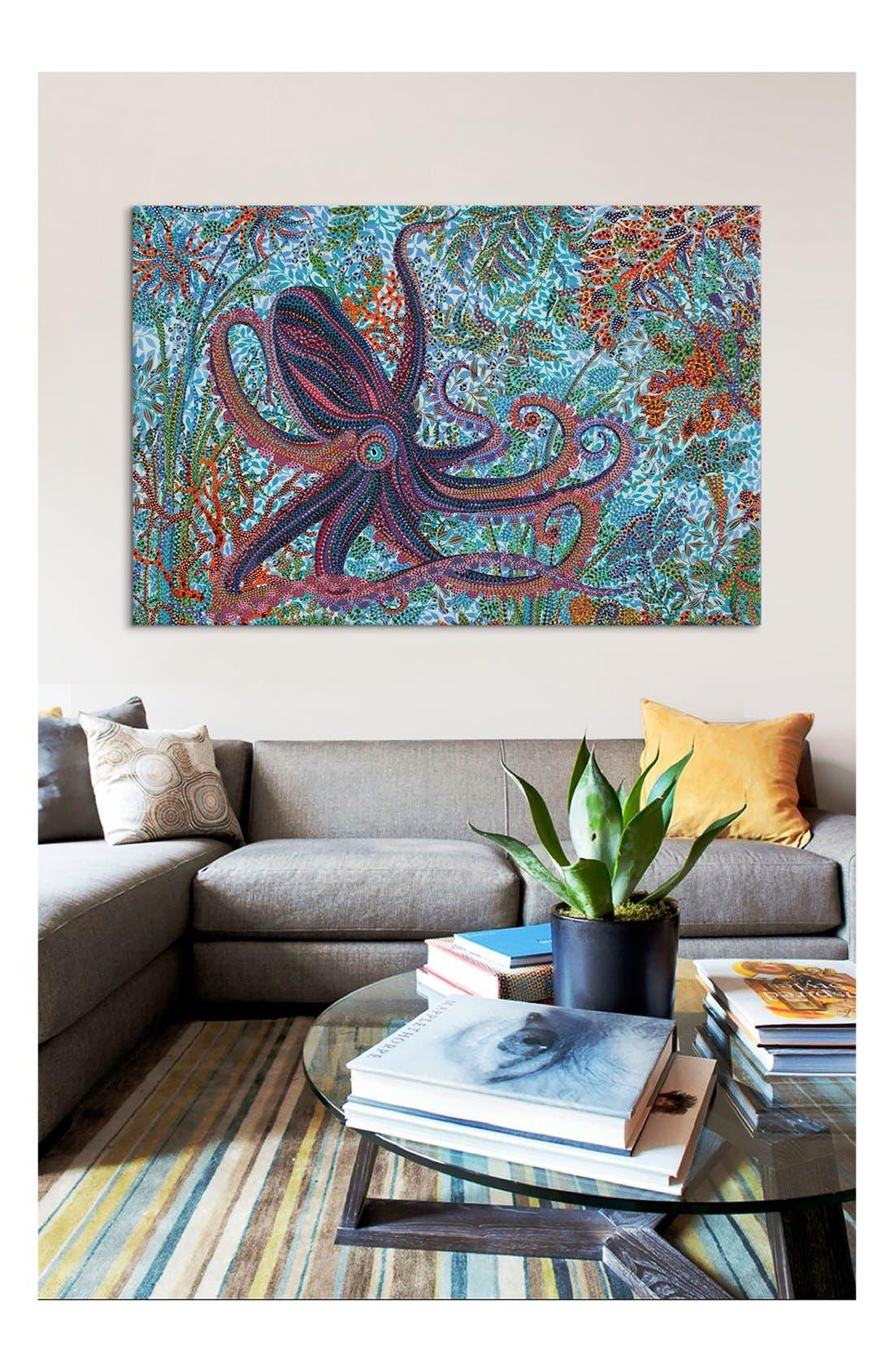 'Octopus - Ebova' Giclée Print Canvas Art,                             Alternate thumbnail 2, color,