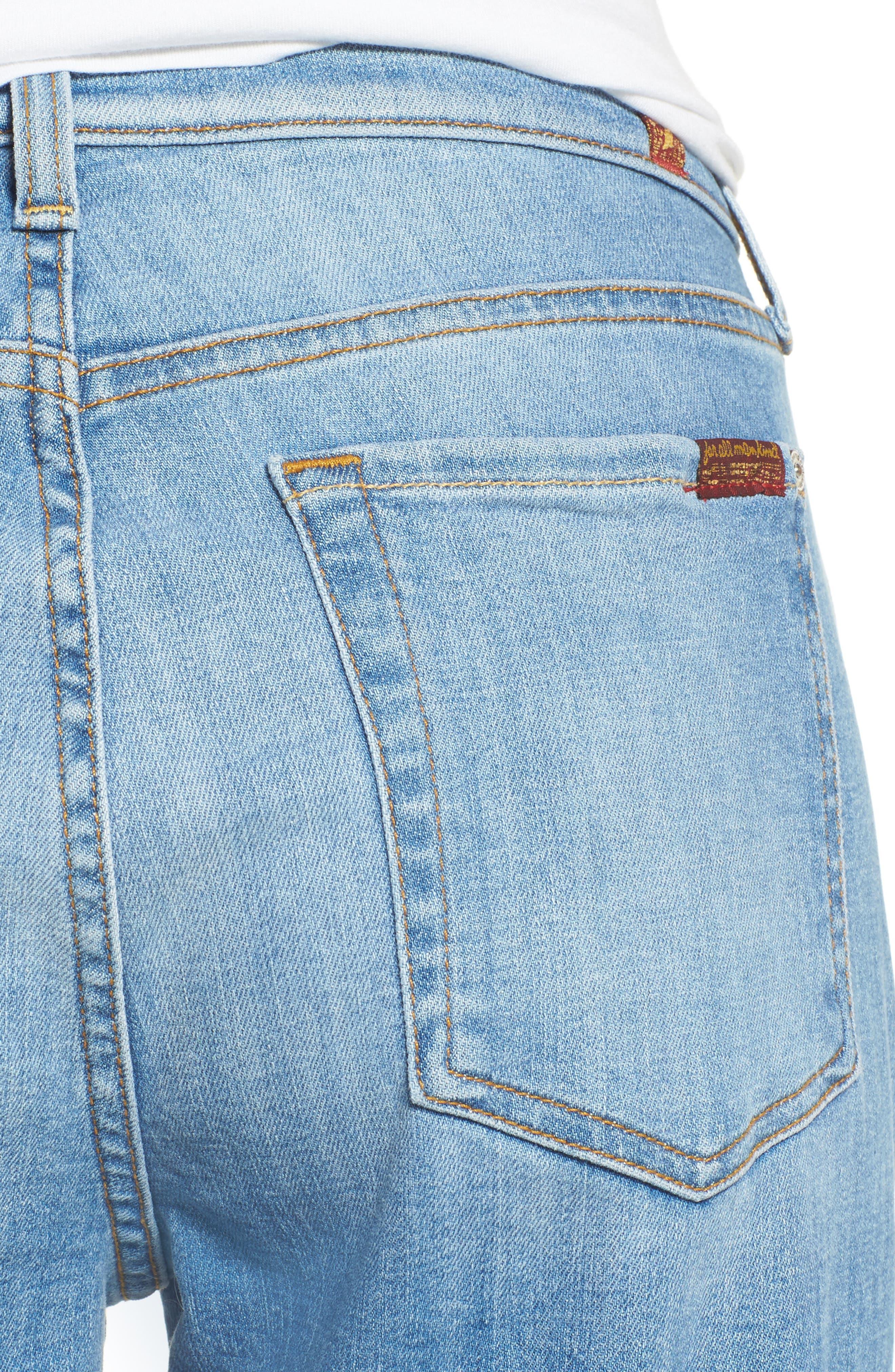 Josefina High Waist Crop Boyfriend Jeans,                             Alternate thumbnail 4, color,                             400