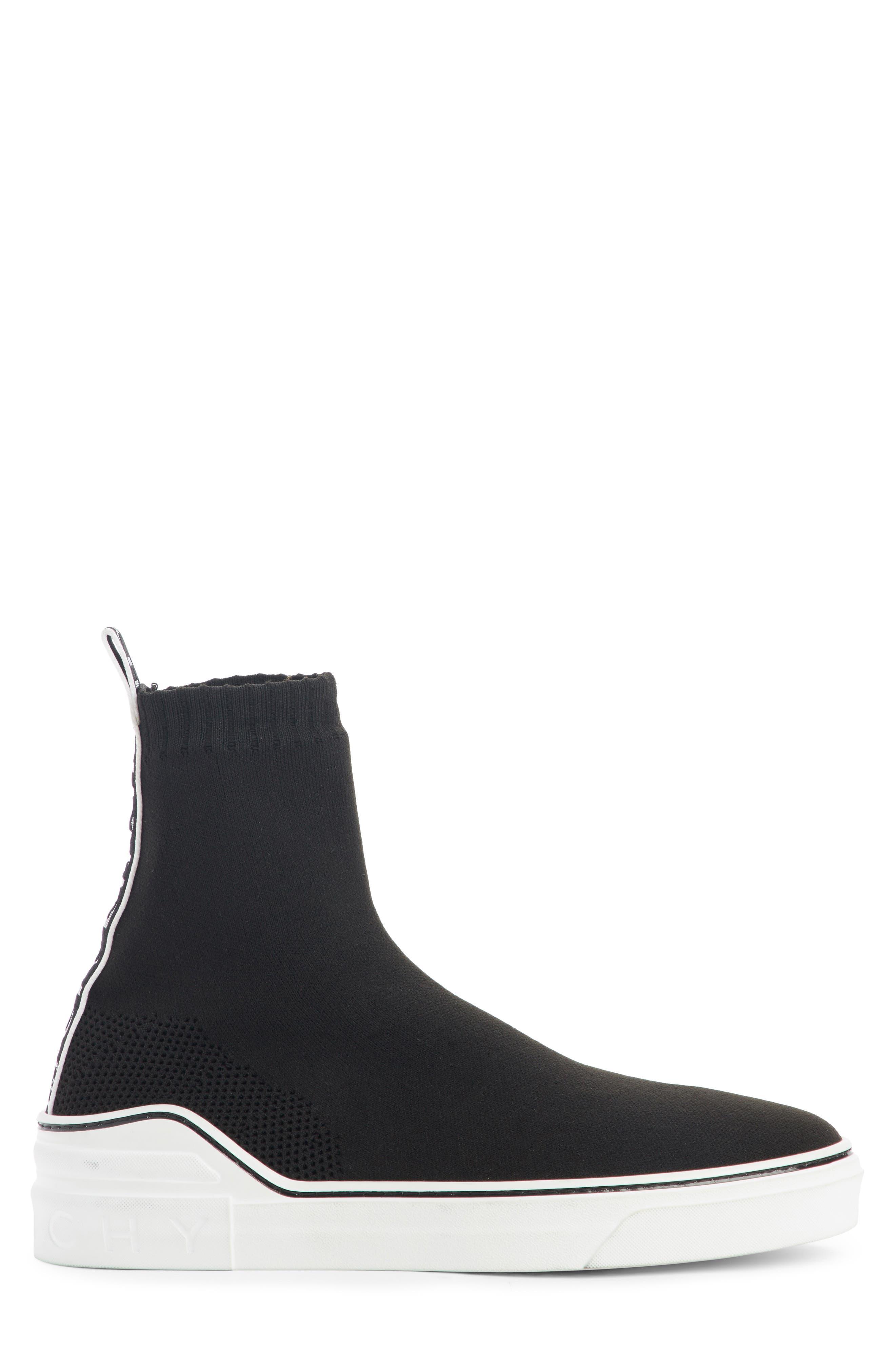 George V Hi Sock Sneaker,                             Alternate thumbnail 3, color,                             001