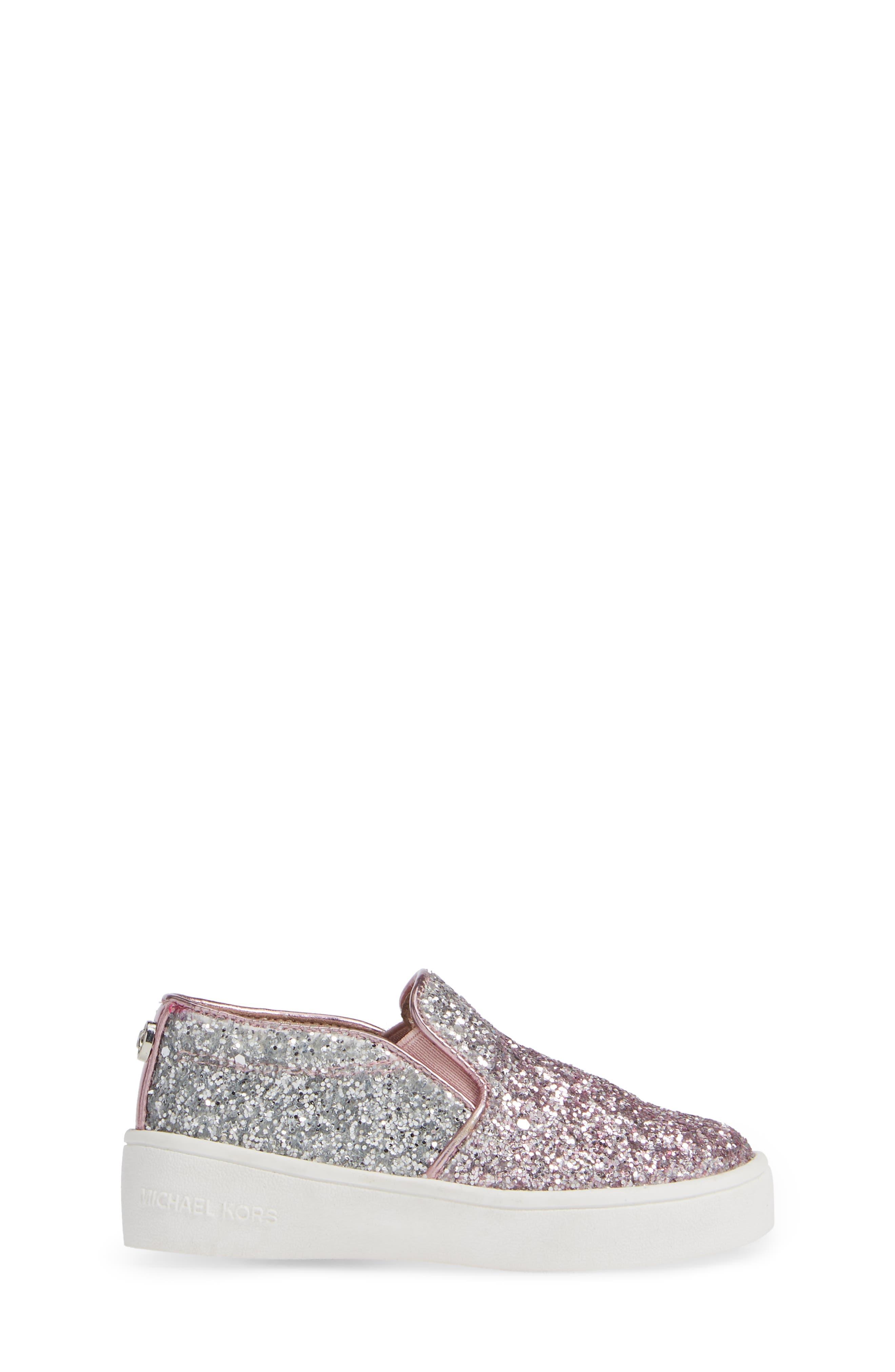 Ivy Ombré Glitter Slip-On Sneaker,                             Alternate thumbnail 3, color,                             PINK SILVER