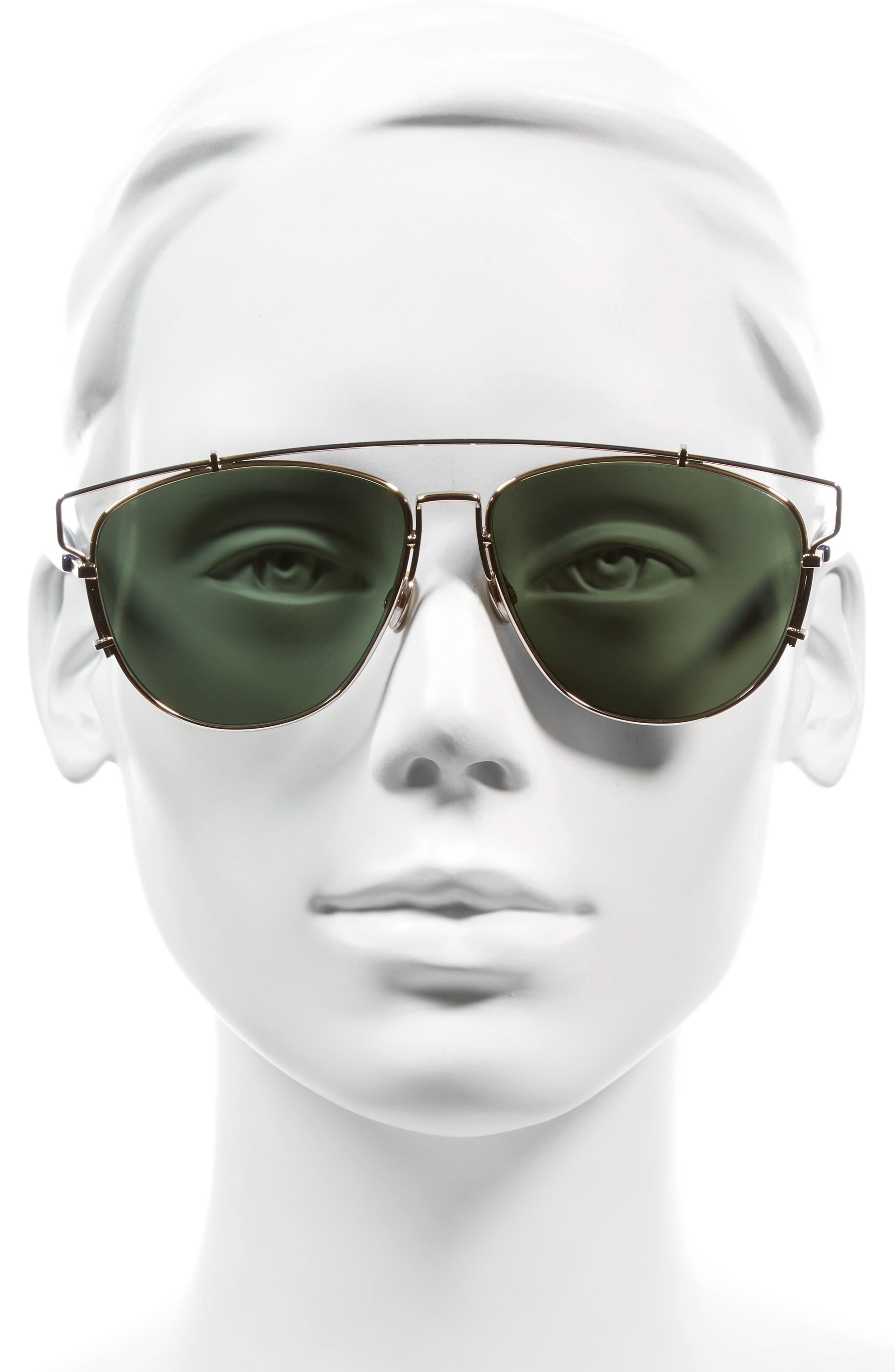 Technologic 57mm Brow Bar Sunglasses,                             Alternate thumbnail 28, color,