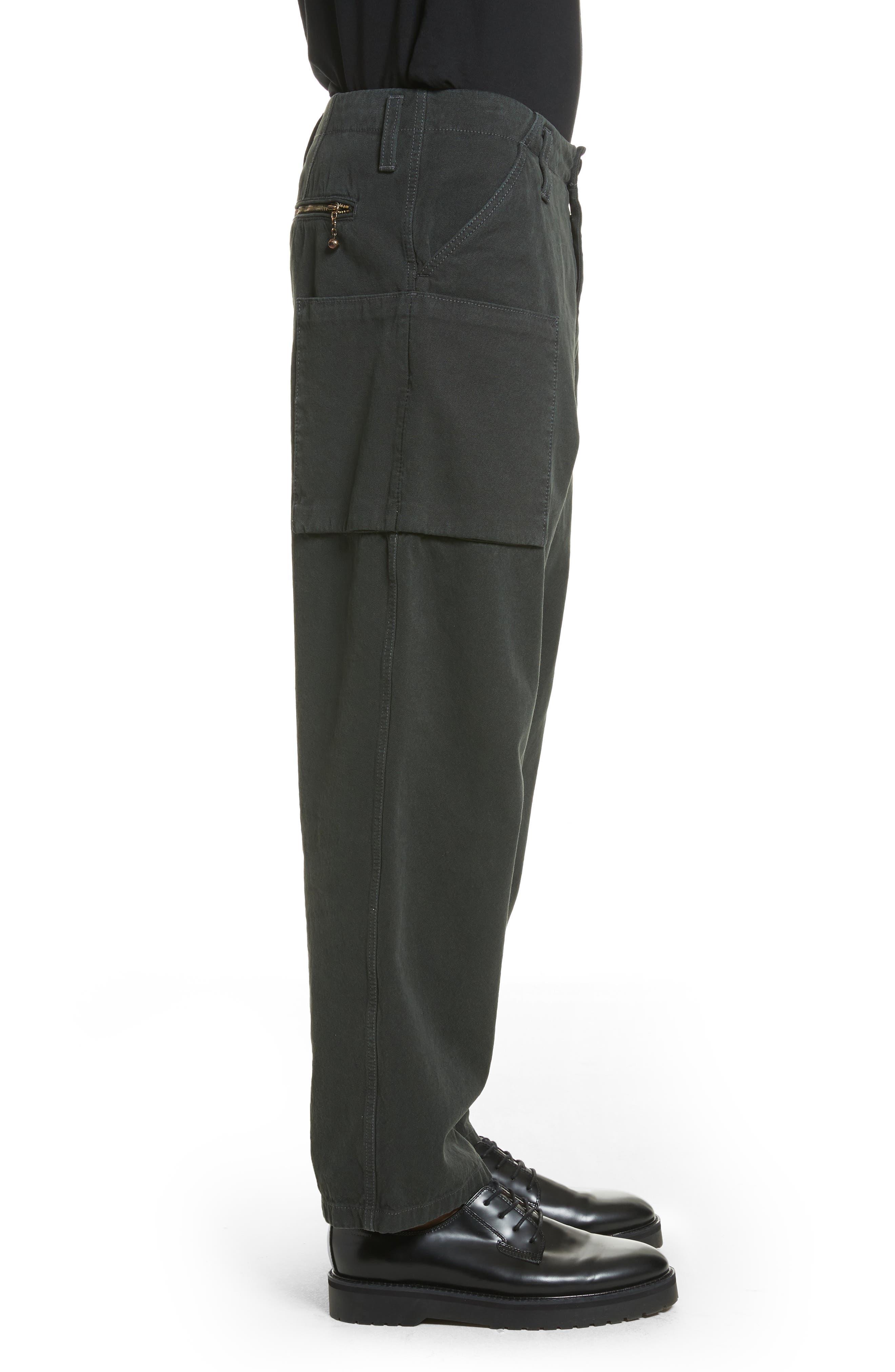 Anselm Wide Leg Patch Cargo Pants,                             Alternate thumbnail 3, color,                             010