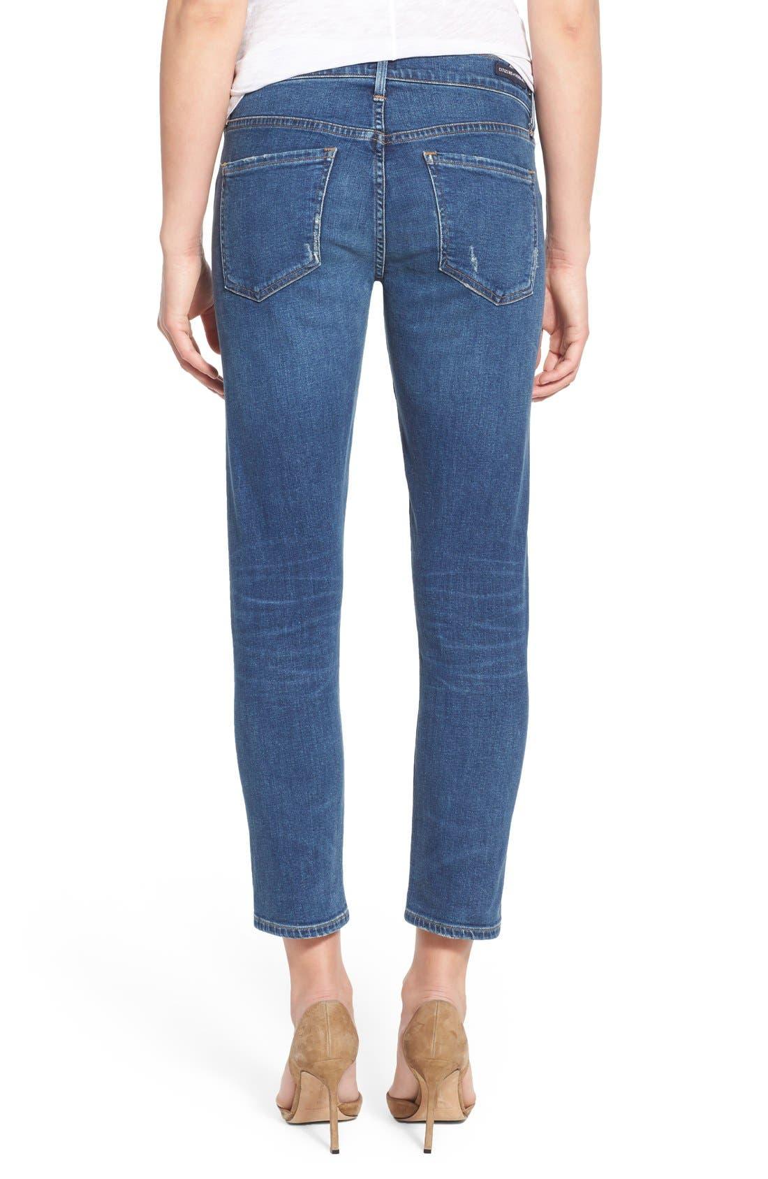 'Elsa' Crop Slim Jeans,                             Alternate thumbnail 2, color,                             423
