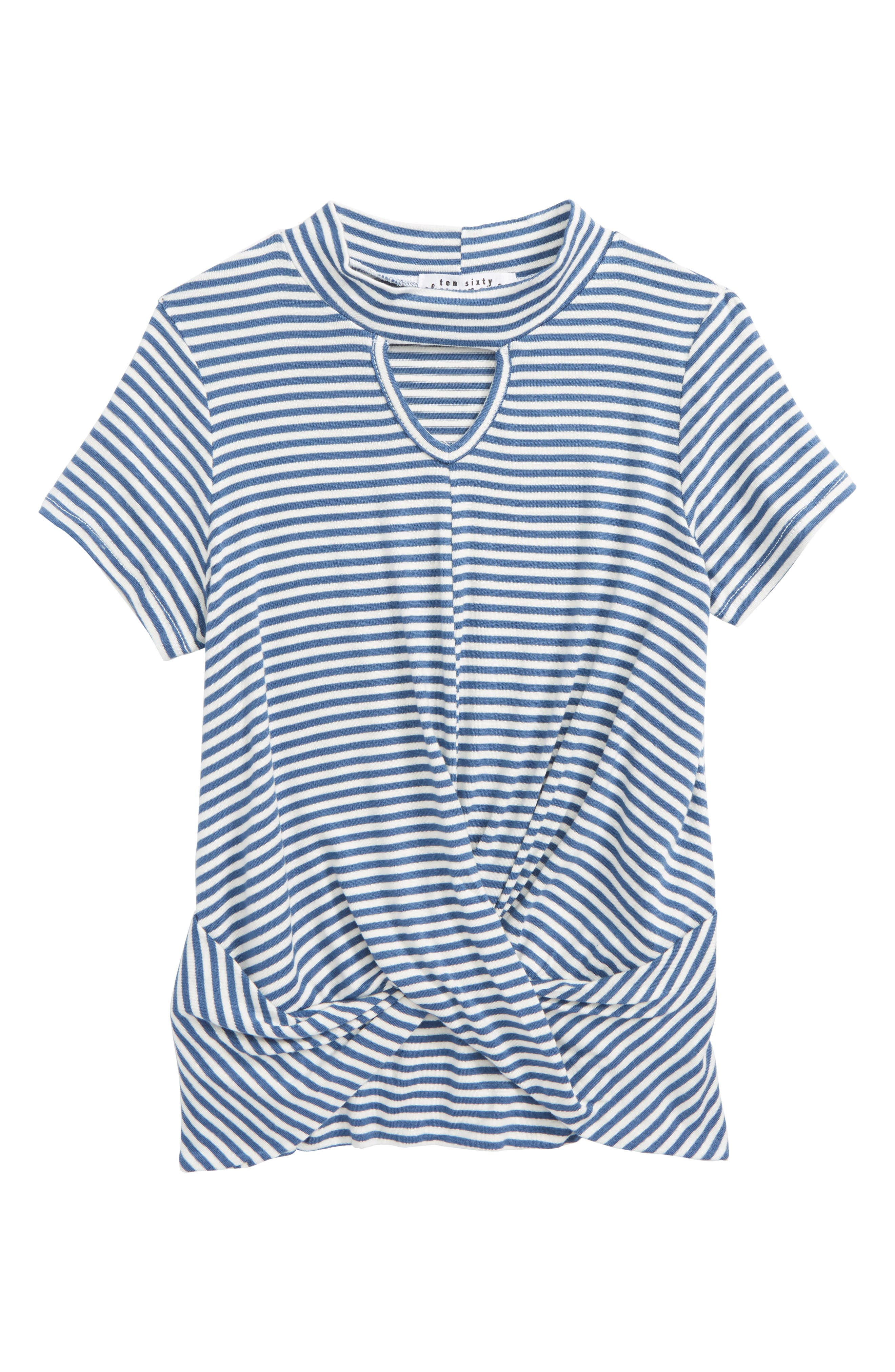 Gigi Stripe Knot Tee,                         Main,                         color, 400
