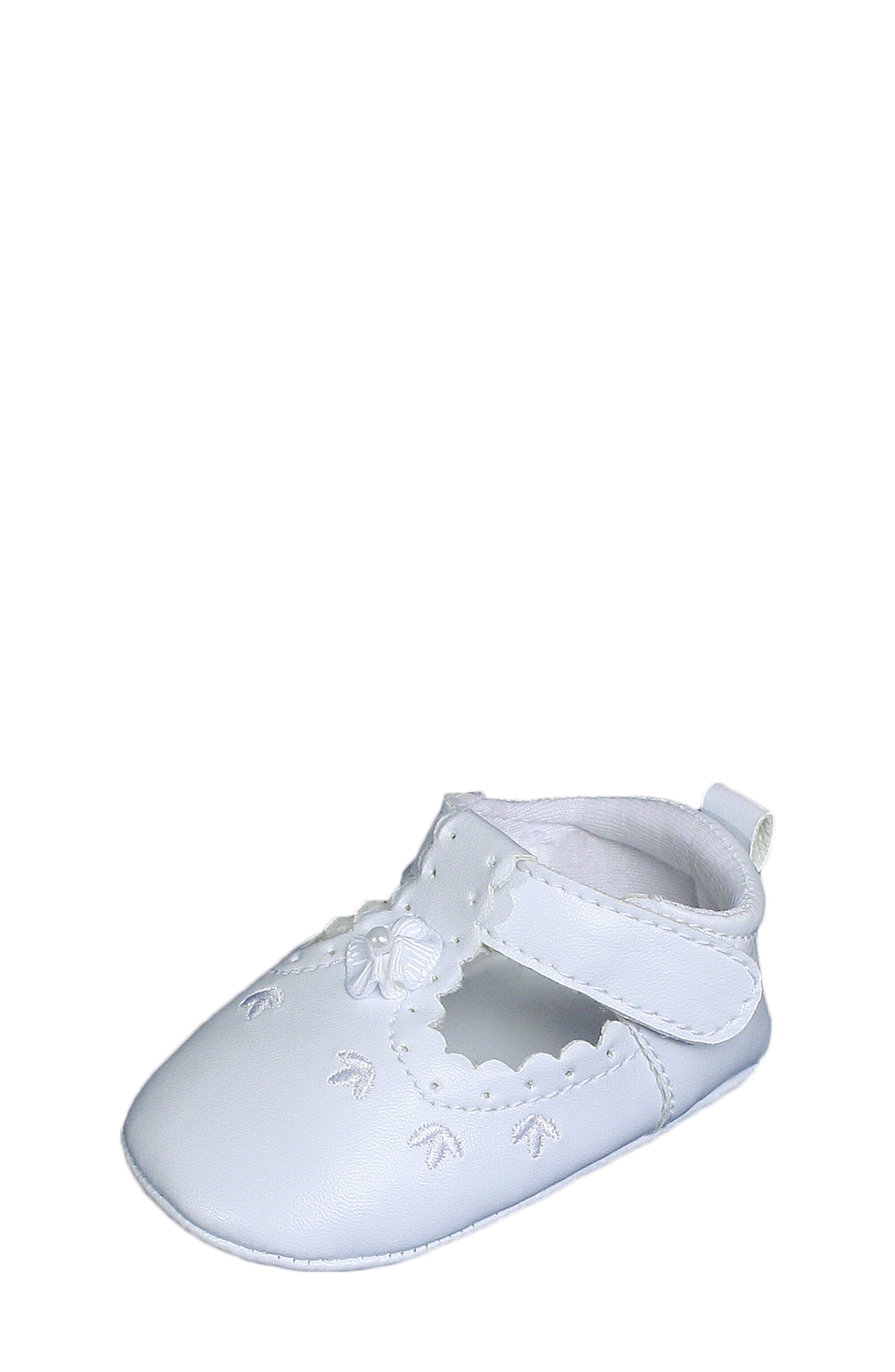 Mary Jane Crib Shoe,                             Alternate thumbnail 4, color,                             WHITE
