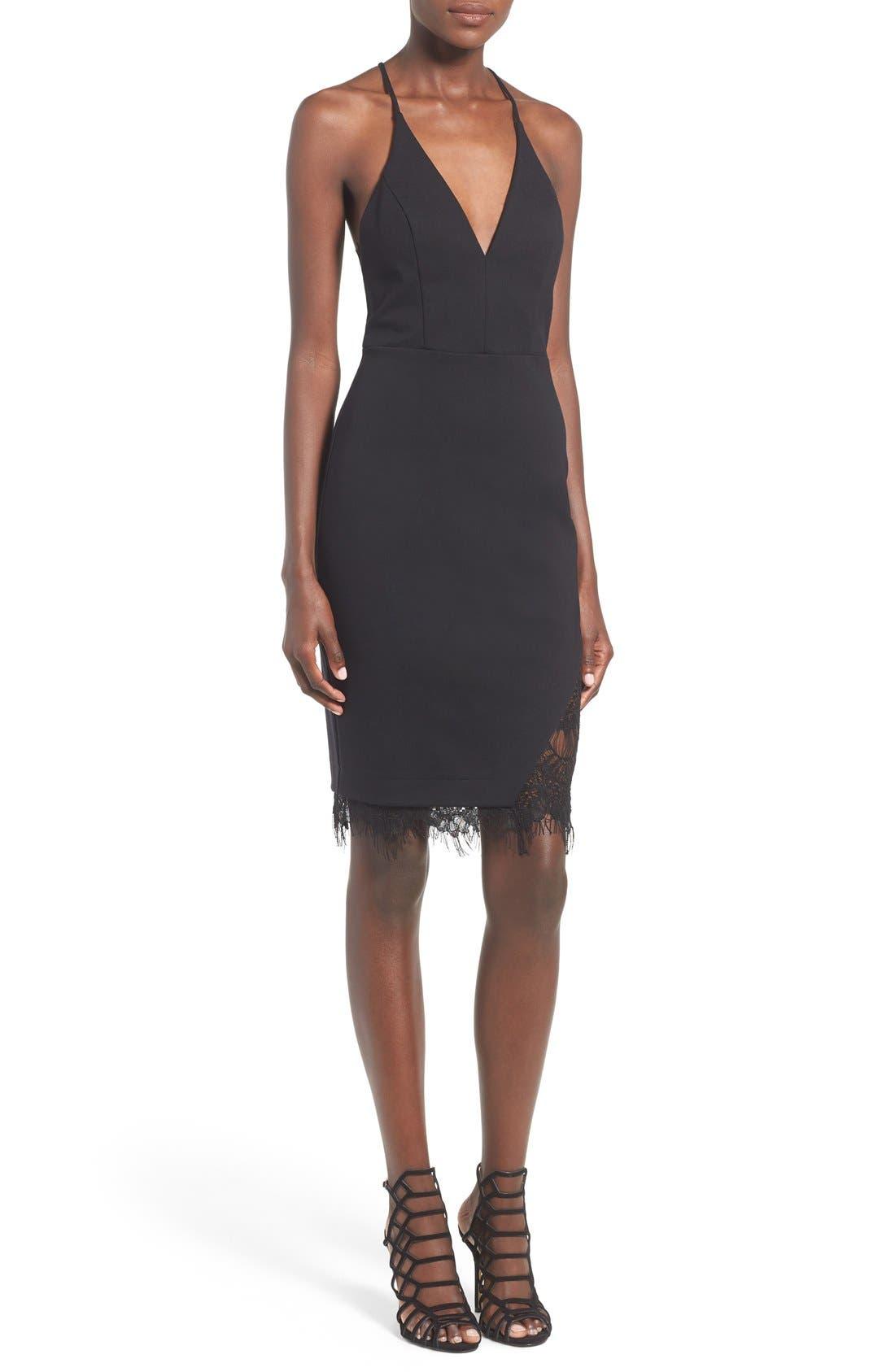 Lace Body-Con Dress,                         Main,                         color,