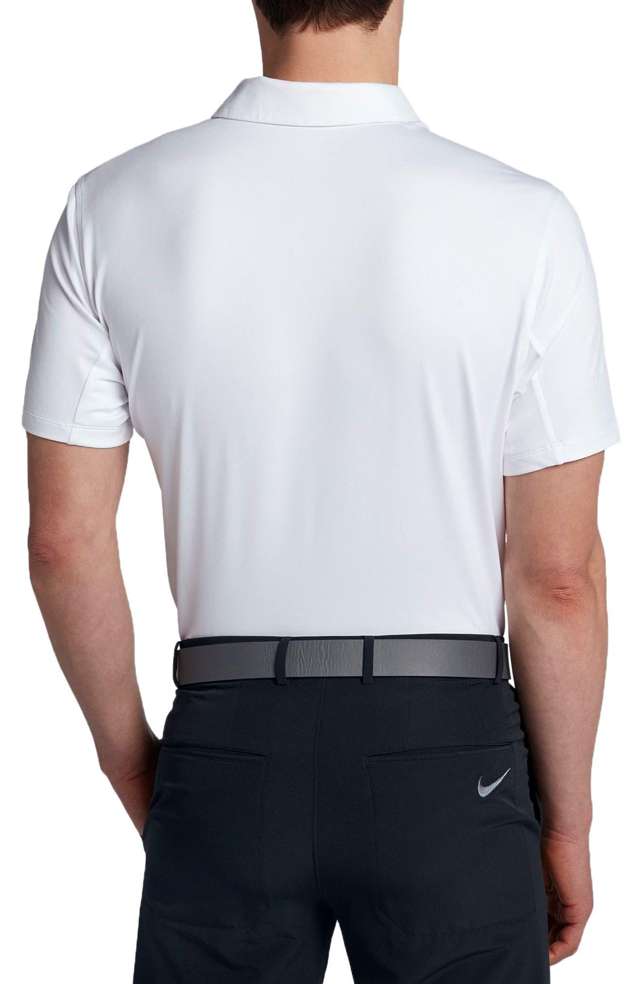 Dry Polo Shirt,                             Alternate thumbnail 2, color,                             WHITE/ BLACK/ SILVER