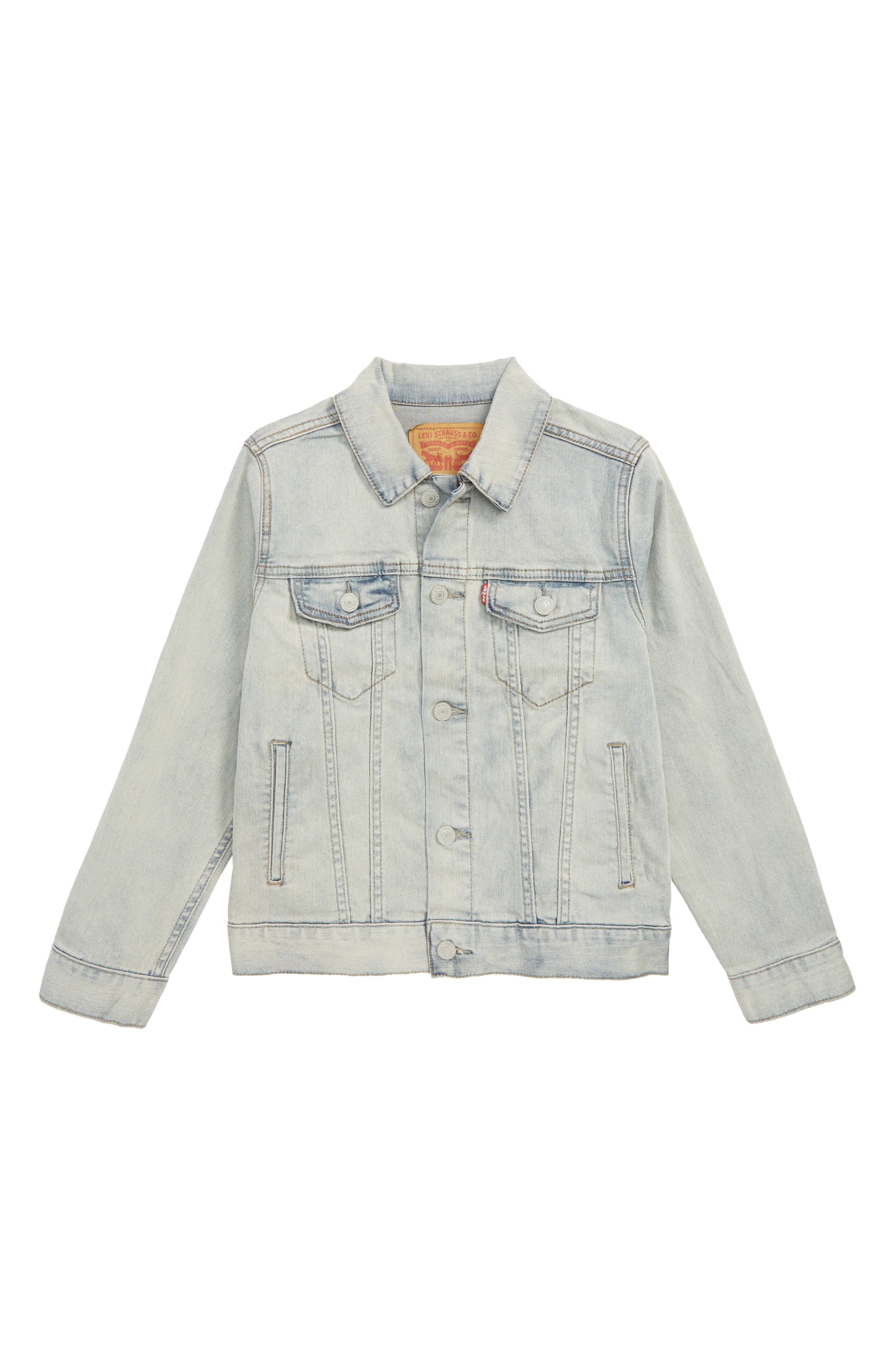 Trucker Denim Jacket,                         Main,                         color, 407