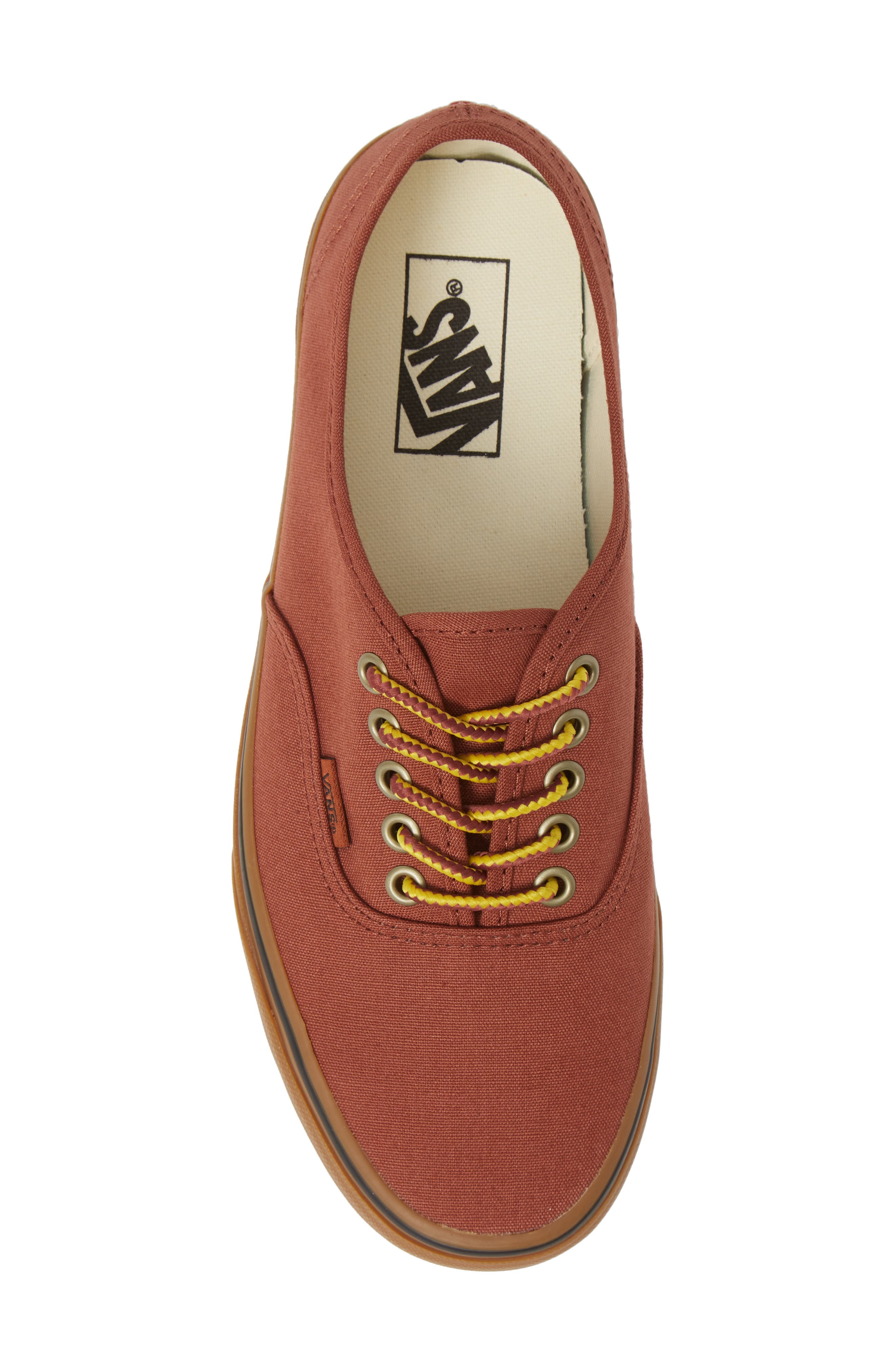 Authentic Sneaker,                             Alternate thumbnail 5, color,                             SEQUOIA/ BROWN