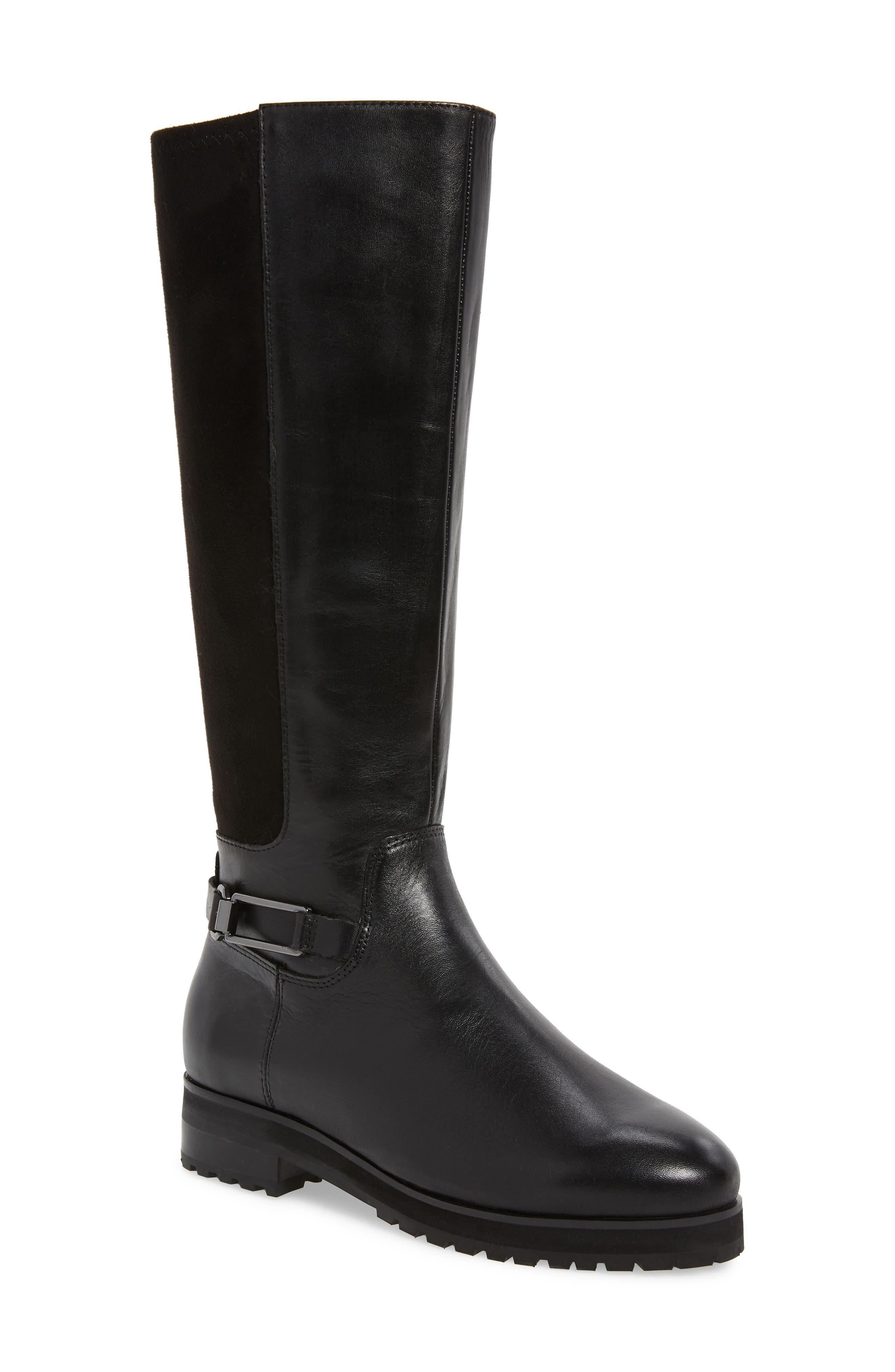 Sudini Frida Waterproof Knee High Boot, Black
