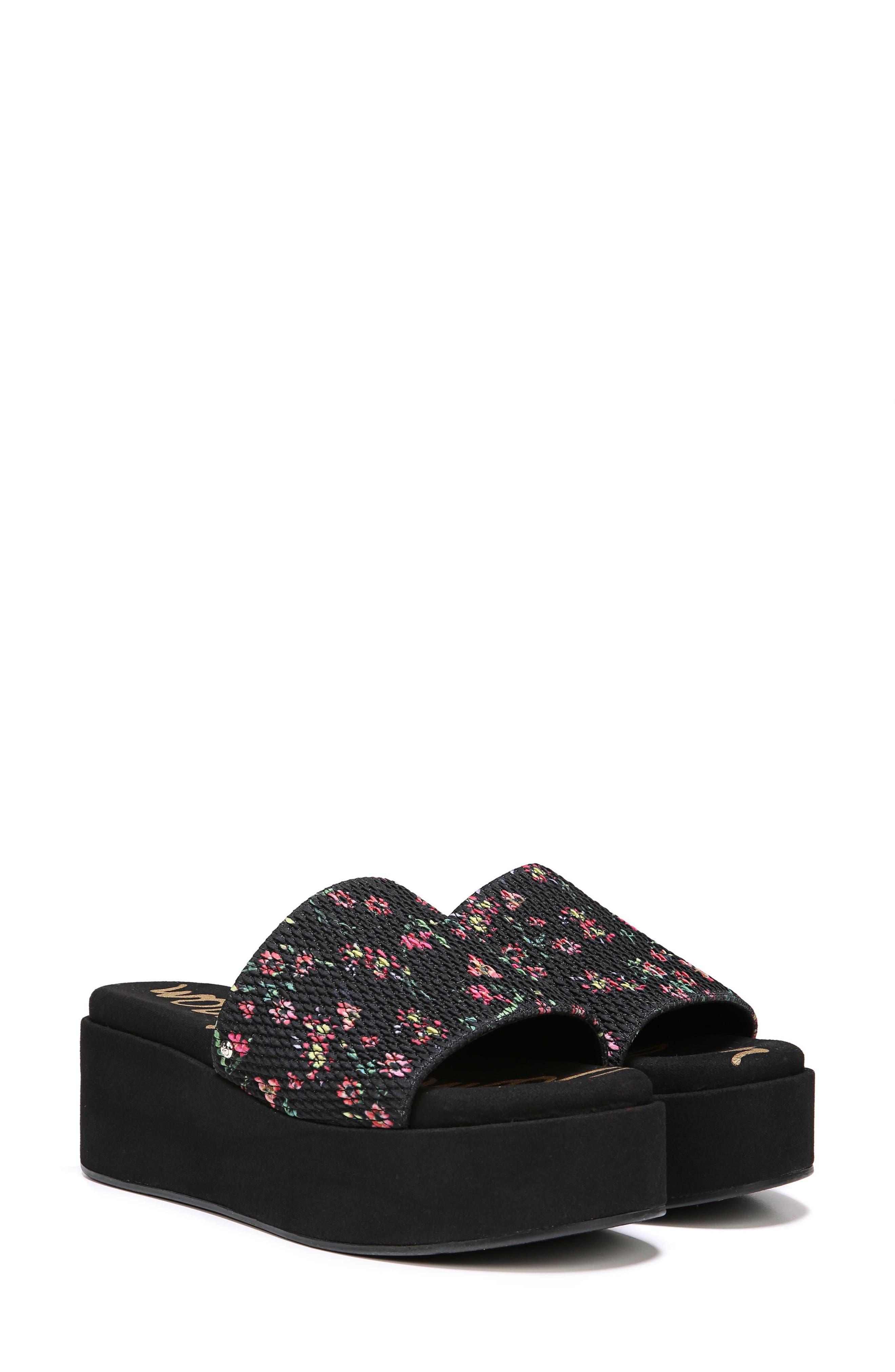 Wendi Platform Slide Sandal,                             Alternate thumbnail 7, color,                             001