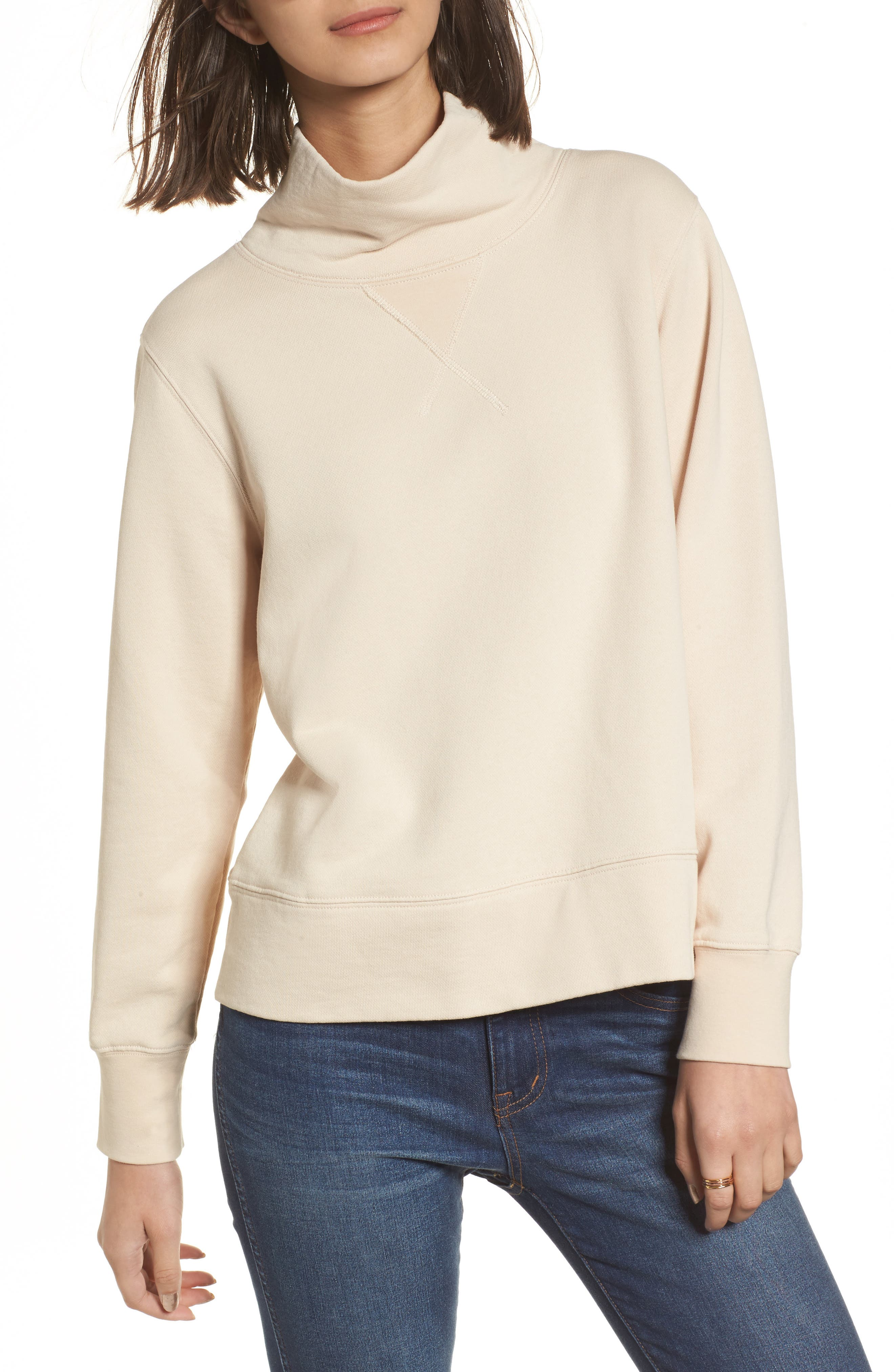 Garment Dyed Funnel Neck Sweatshirt,                             Main thumbnail 1, color,