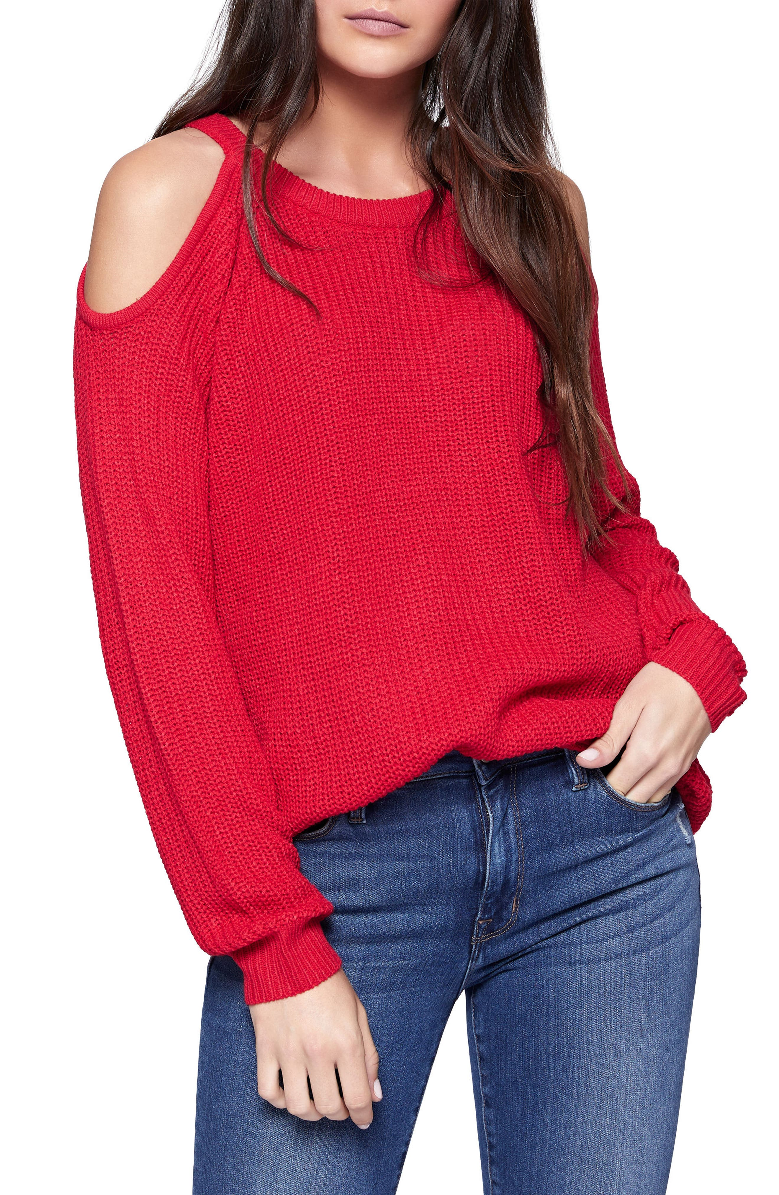 Riley Cold Shoulder Sweater,                             Main thumbnail 7, color,