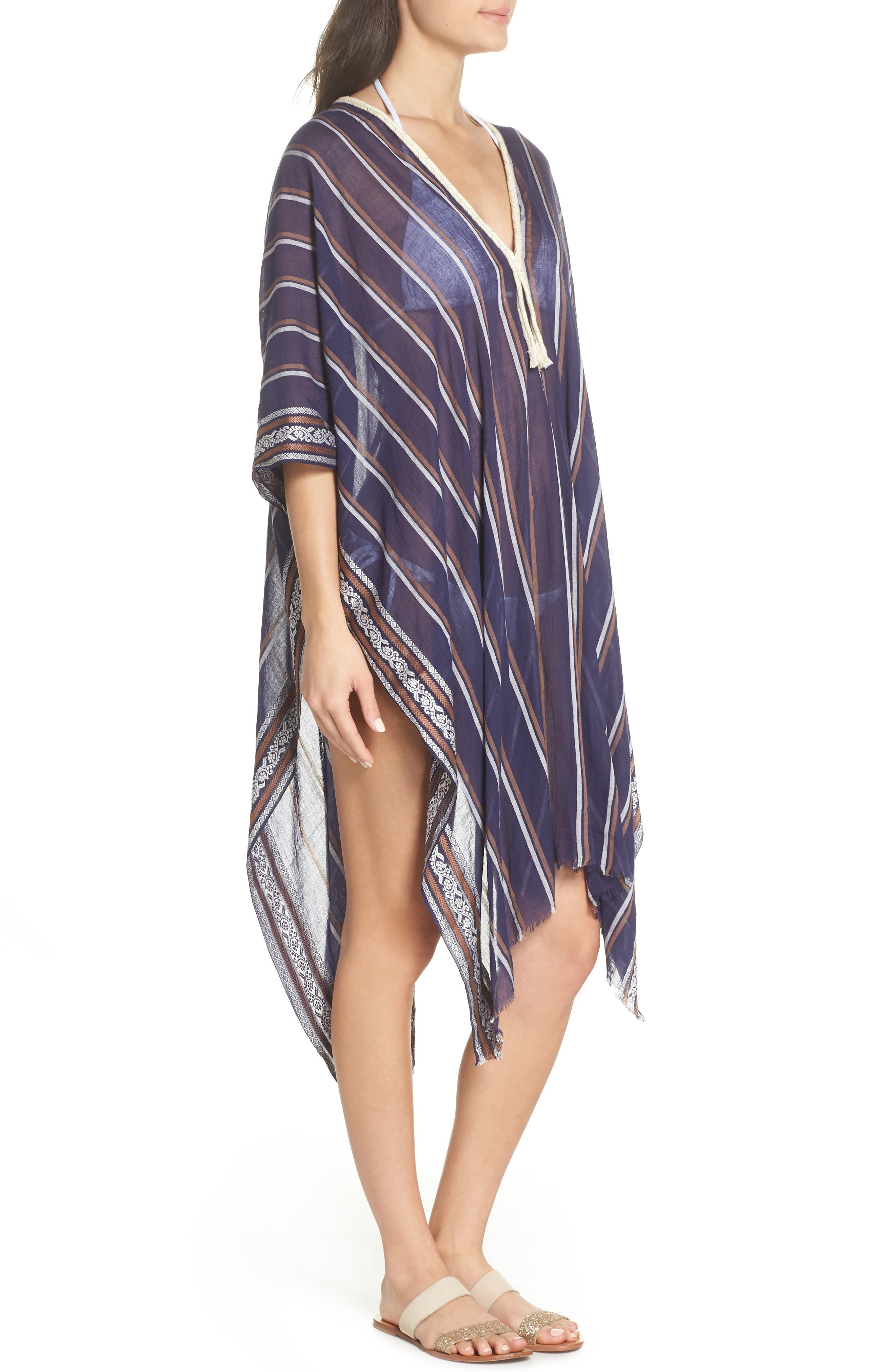 Cover-Up Tunic,                             Alternate thumbnail 3, color,                             NAVY