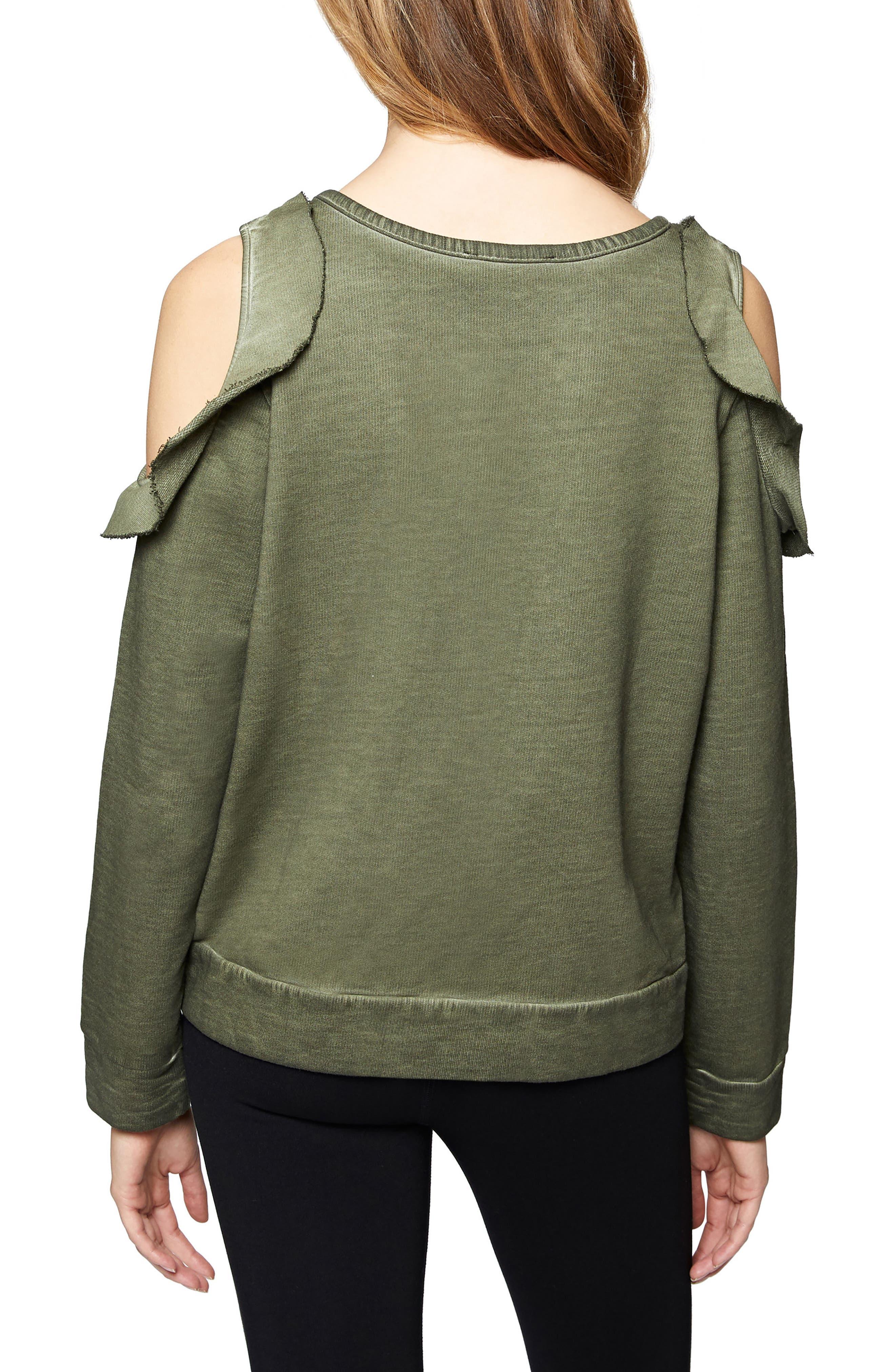 Ashley Bare Ruffle Sweatshirt,                             Alternate thumbnail 2, color,                             301