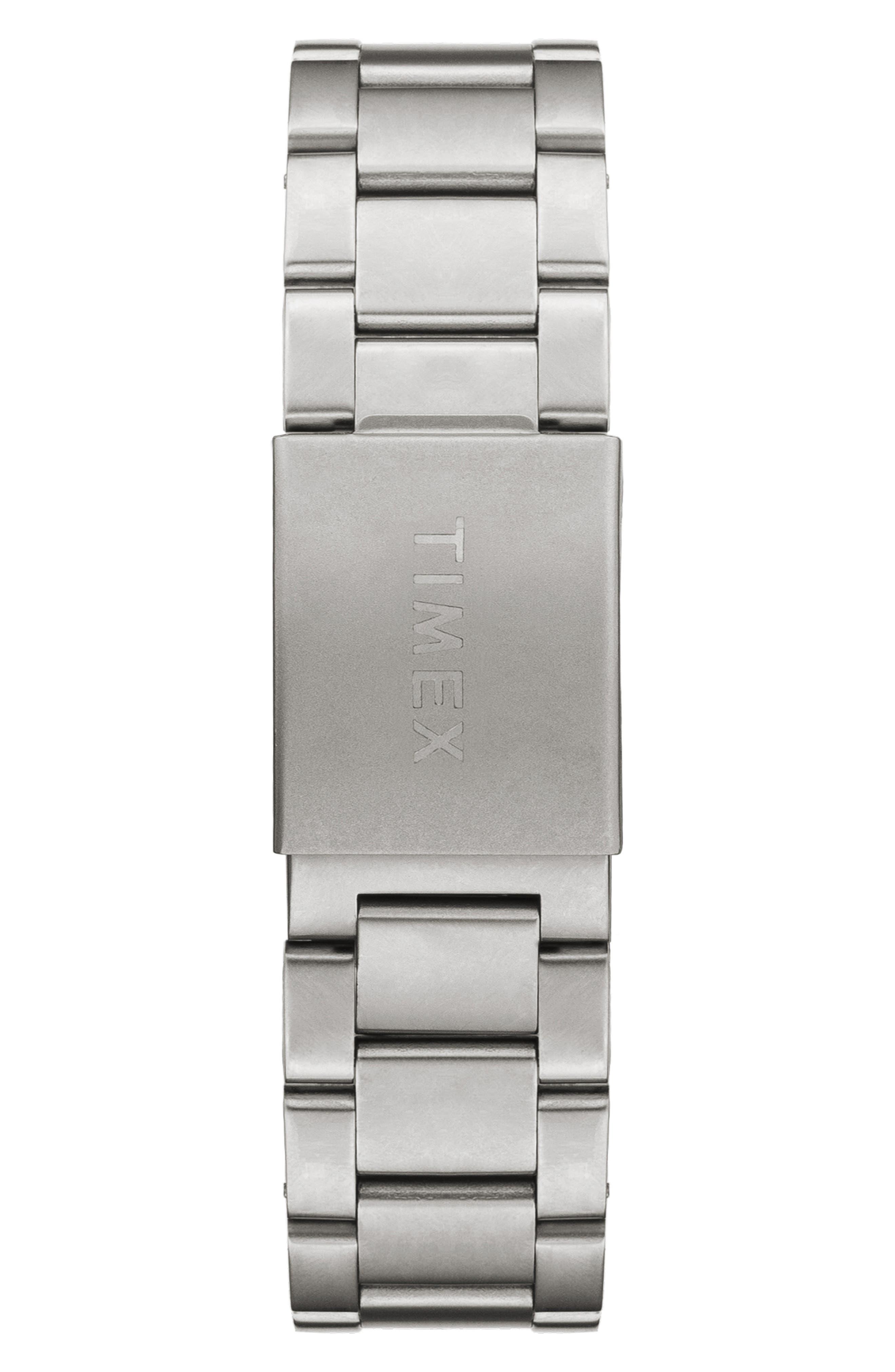 Allied Bracelet Watch, 40mm,                             Alternate thumbnail 2, color,                             SILVER/ BLACK