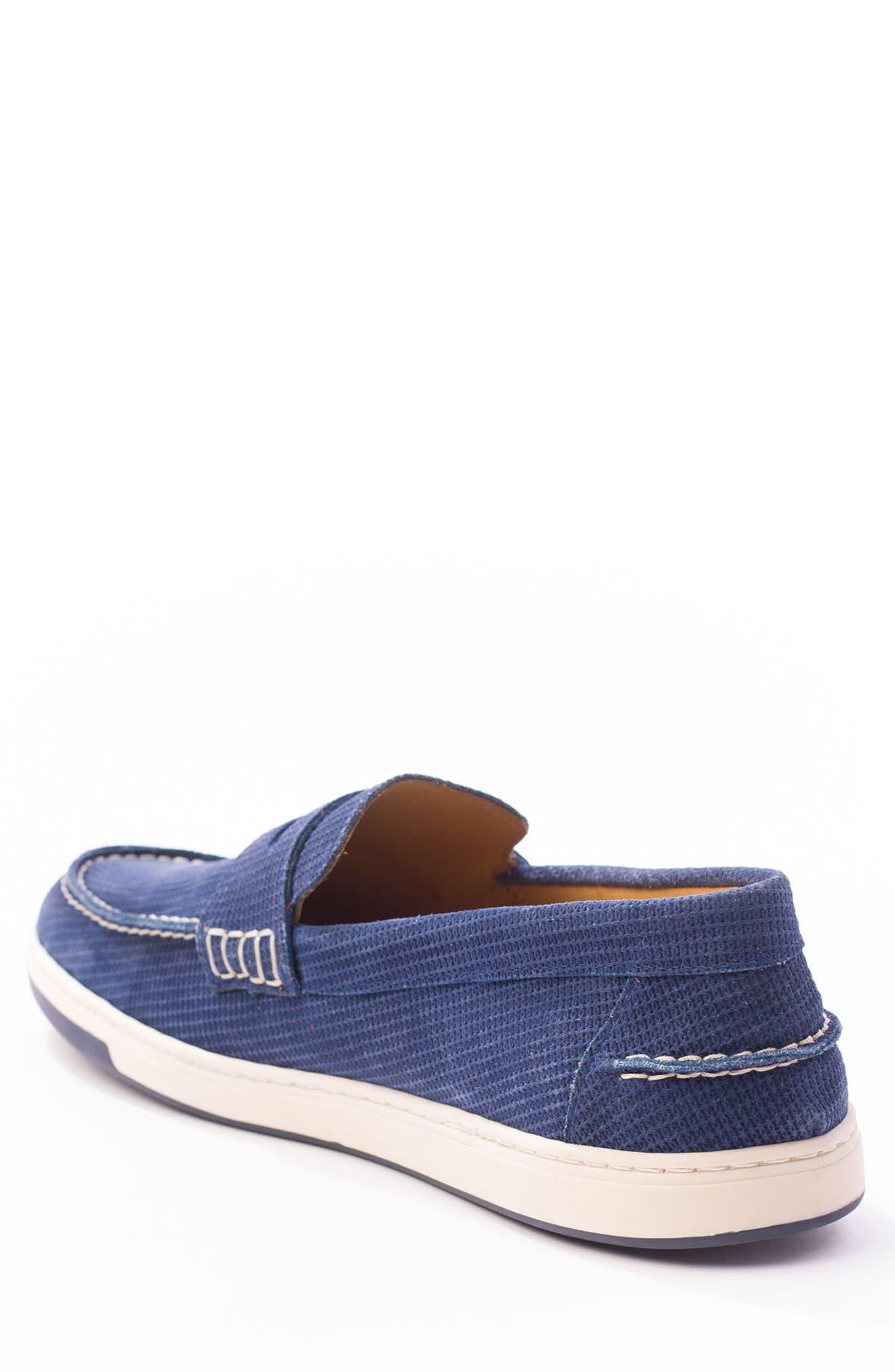 Bradford Embossed Penny Loafer Sneaker,                             Alternate thumbnail 2, color,                             DARK INDIGO