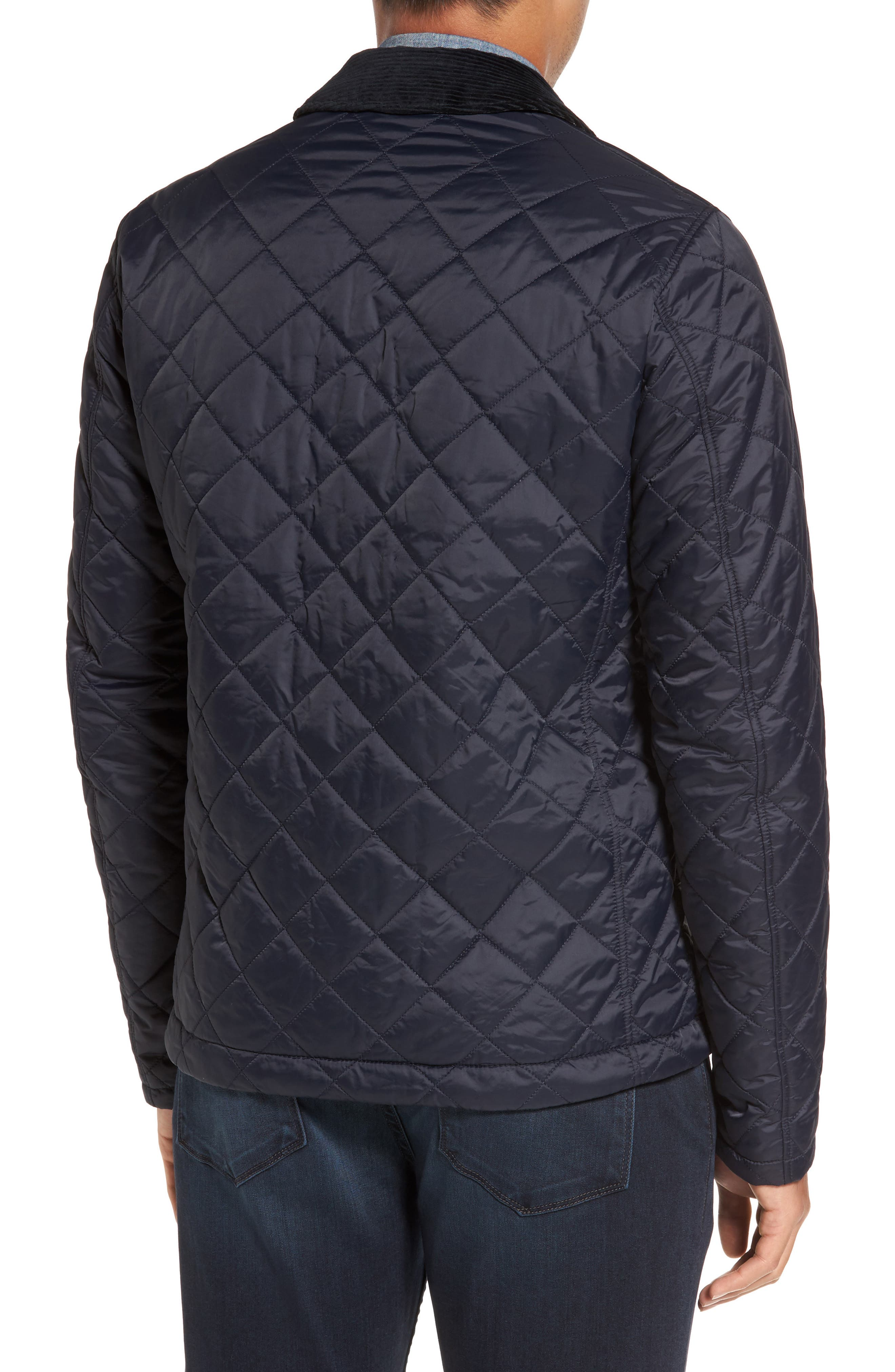 Holme Quilted Water-Resistant Jacket,                             Alternate thumbnail 2, color,                             NAVY
