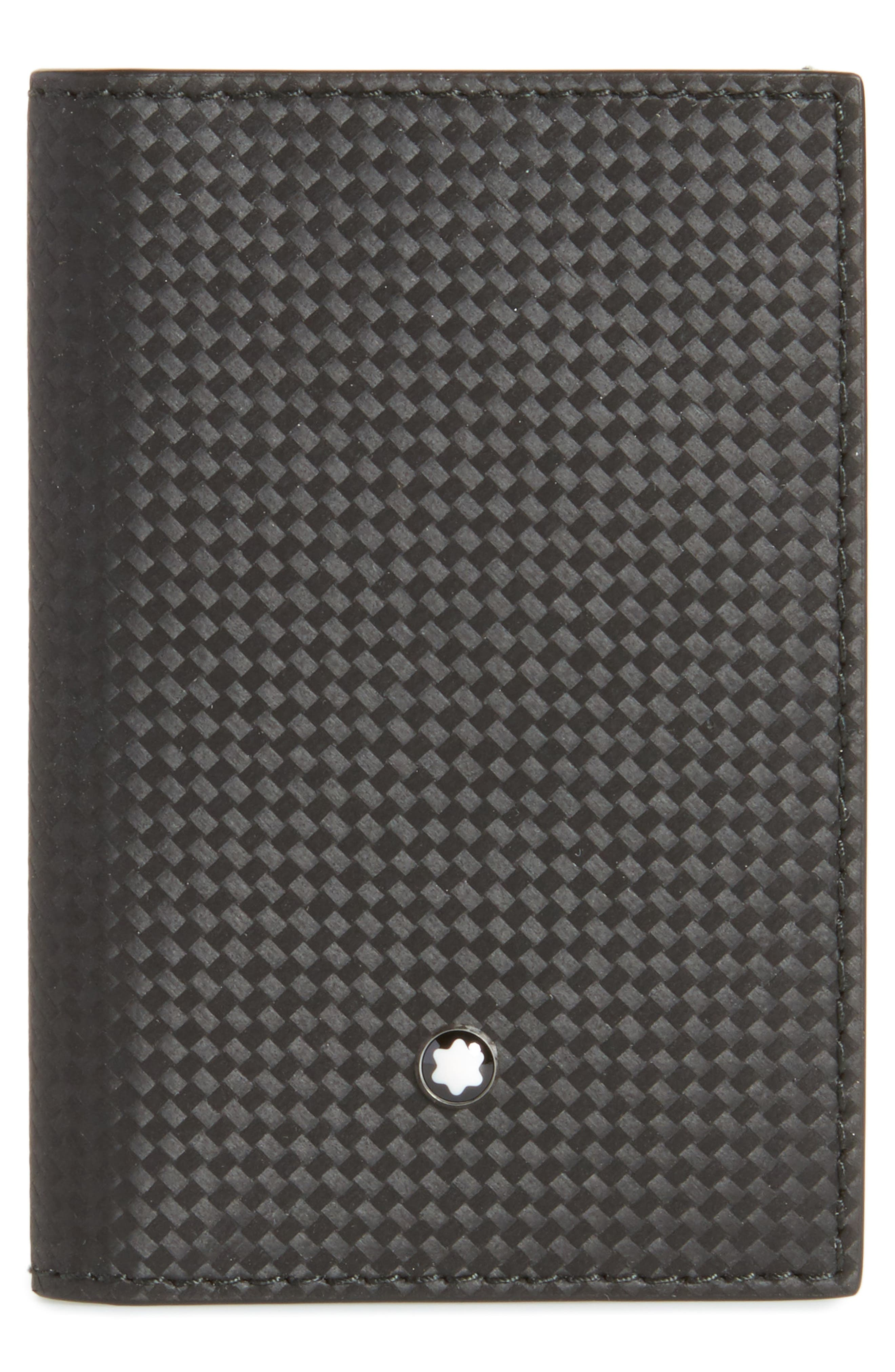 Extreme Leather Business Card Case,                             Main thumbnail 1, color,                             BLACK