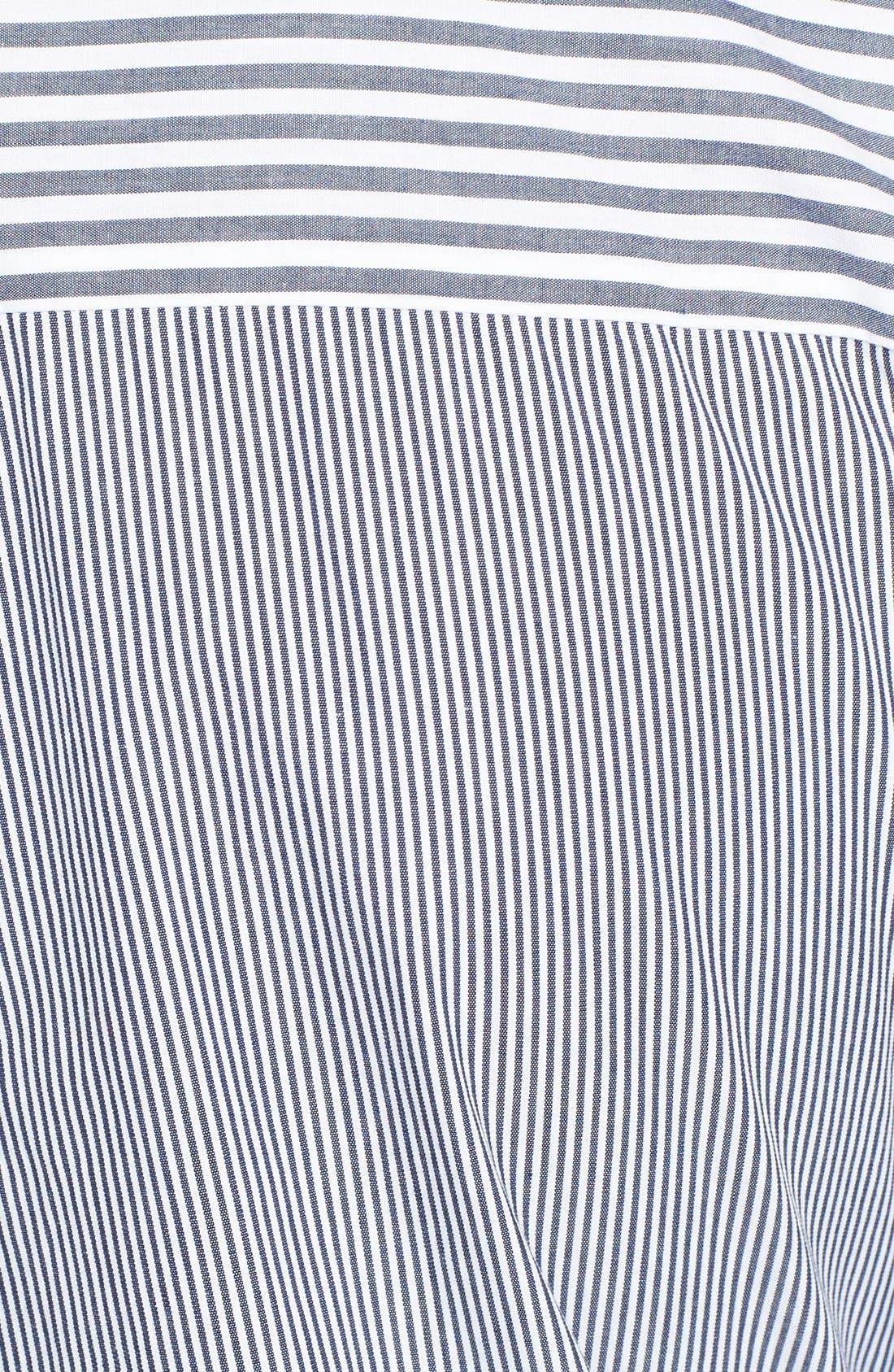 Tie Waist Shirtdress,                             Alternate thumbnail 3, color,                             419