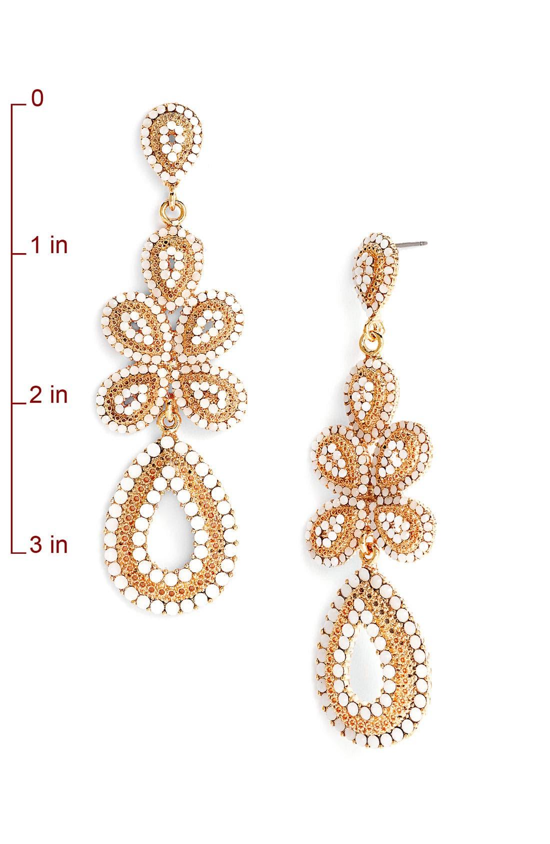 'Ornate' Linear Statement Earrings,                             Alternate thumbnail 21, color,