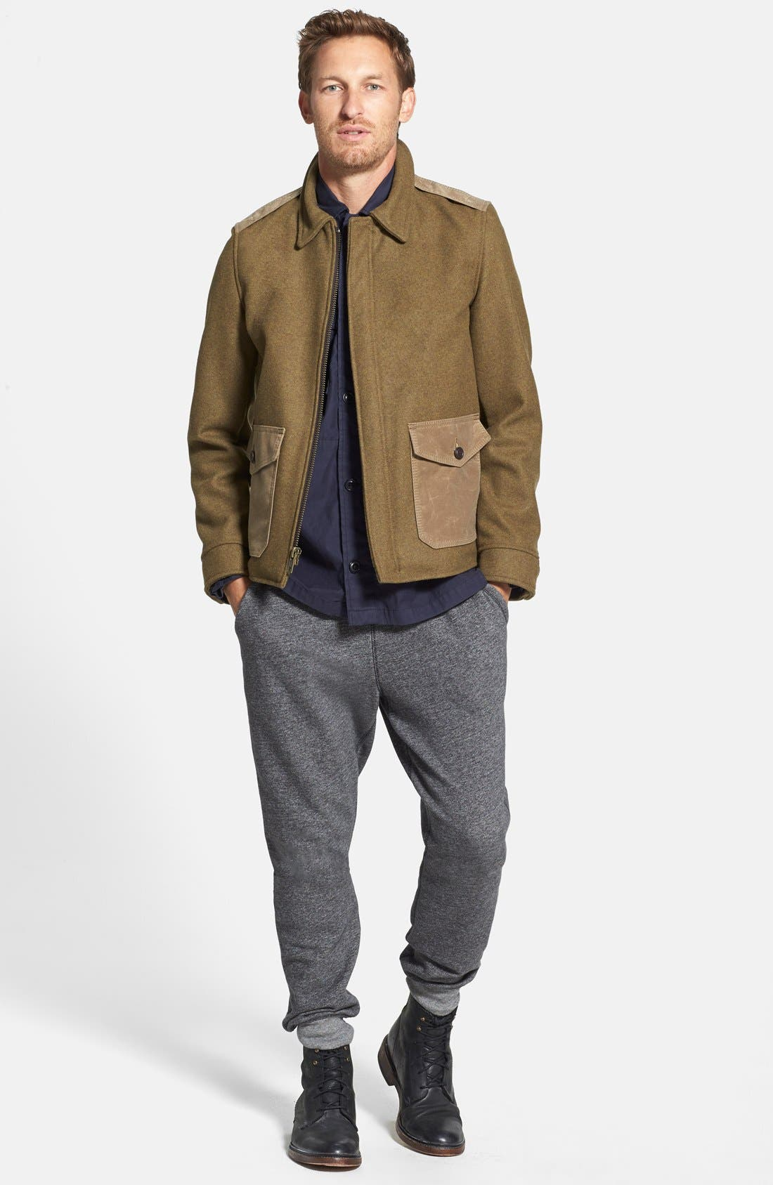 Wool Military Jacket,                             Alternate thumbnail 2, color,                             360