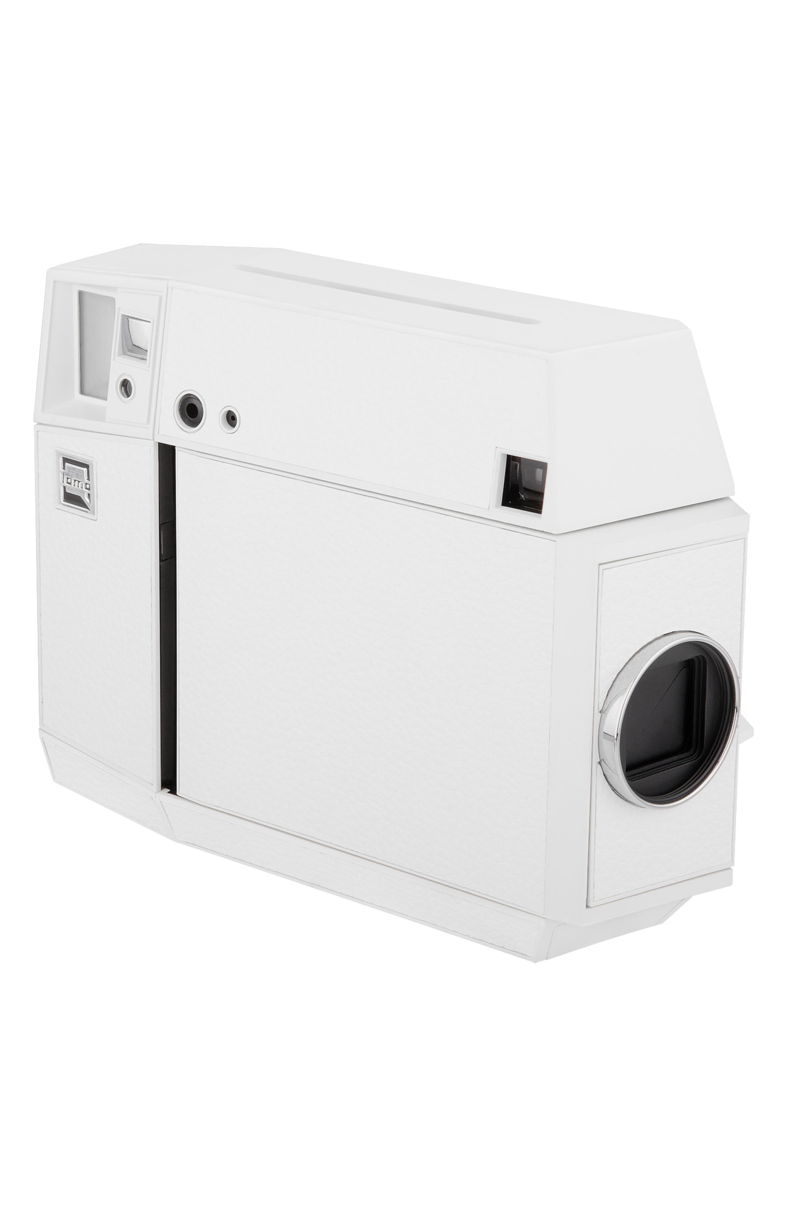 Lomo'Instant Square Glass Black Edition Instant Camera,                             Alternate thumbnail 6, color,                             WHITE