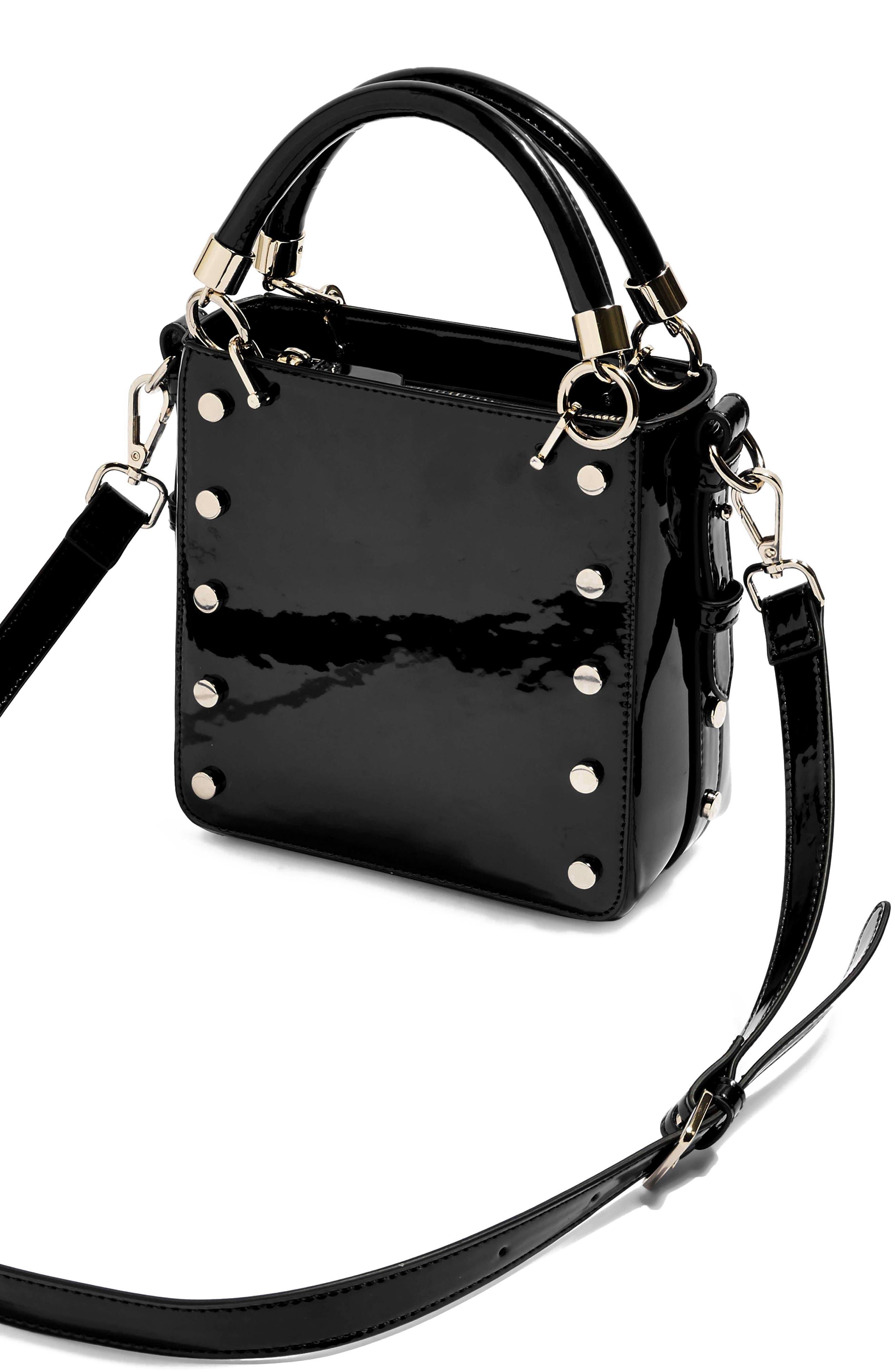 Courtney Studded Crossbody Bag,                             Alternate thumbnail 4, color,                             BLACK MULTI