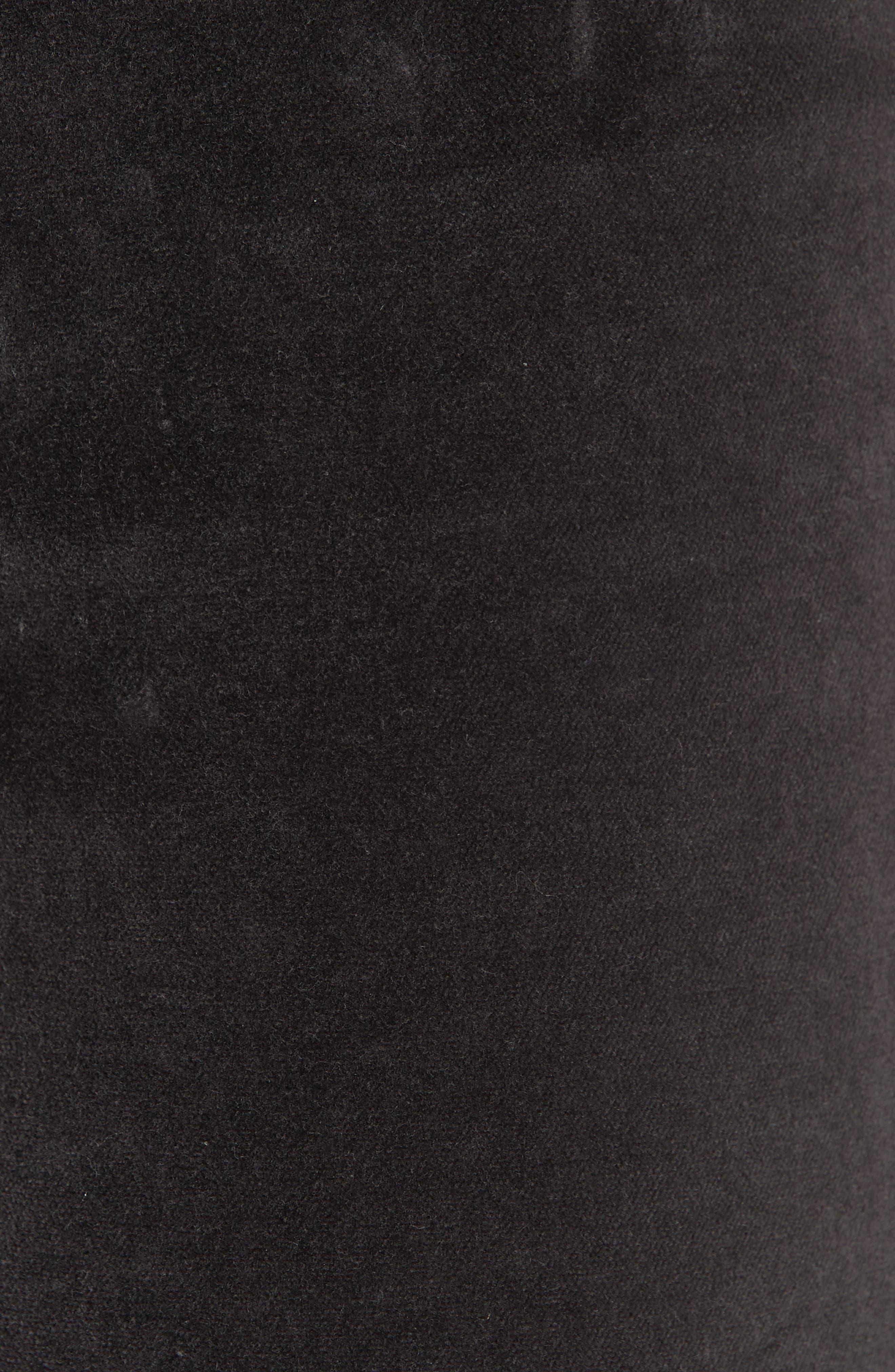 Velveteen High Waist Skinny Pants,                             Alternate thumbnail 5, color,                             021