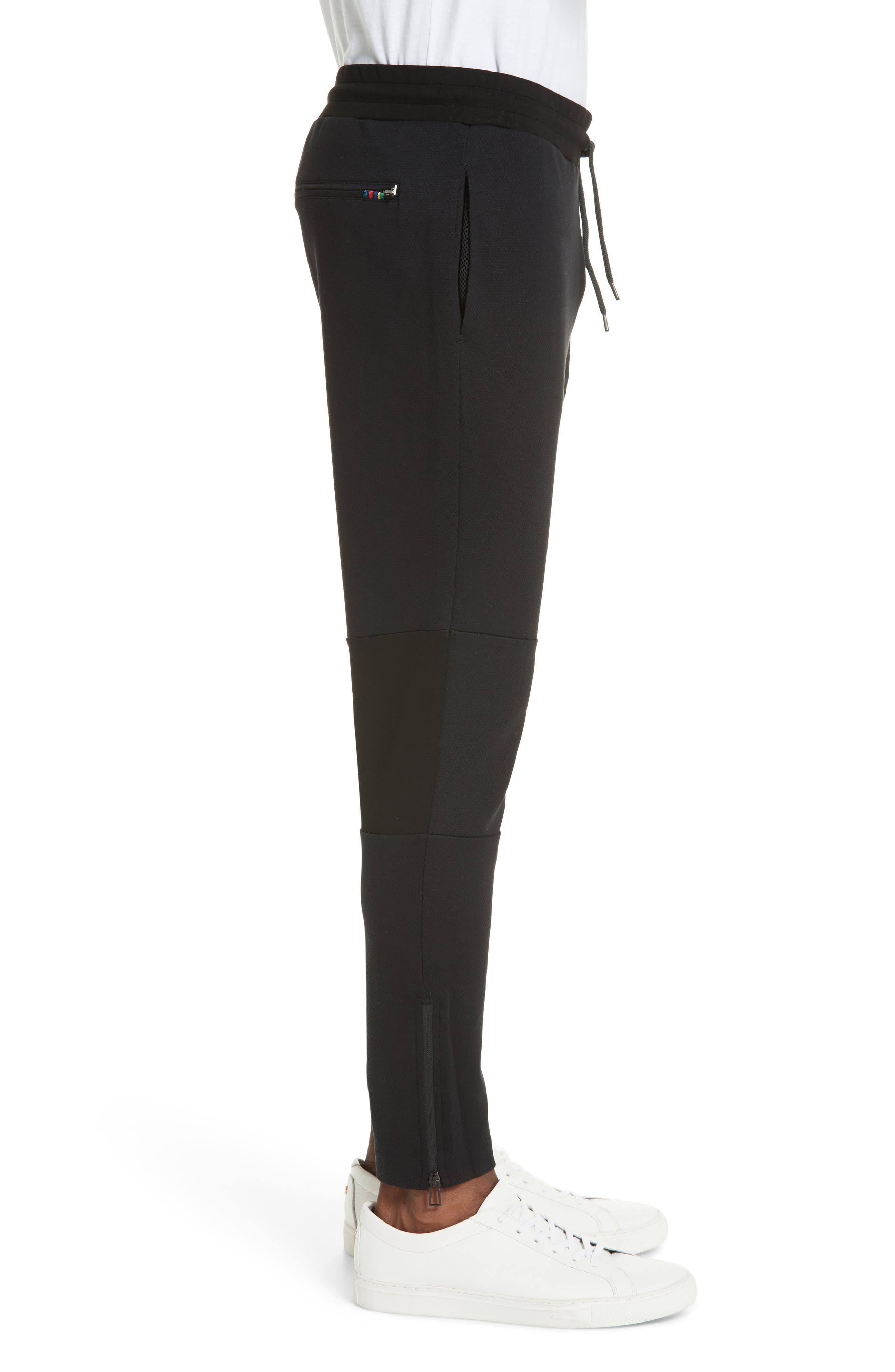 Stripe Jogger Pants,                             Alternate thumbnail 3, color,                             BLACK