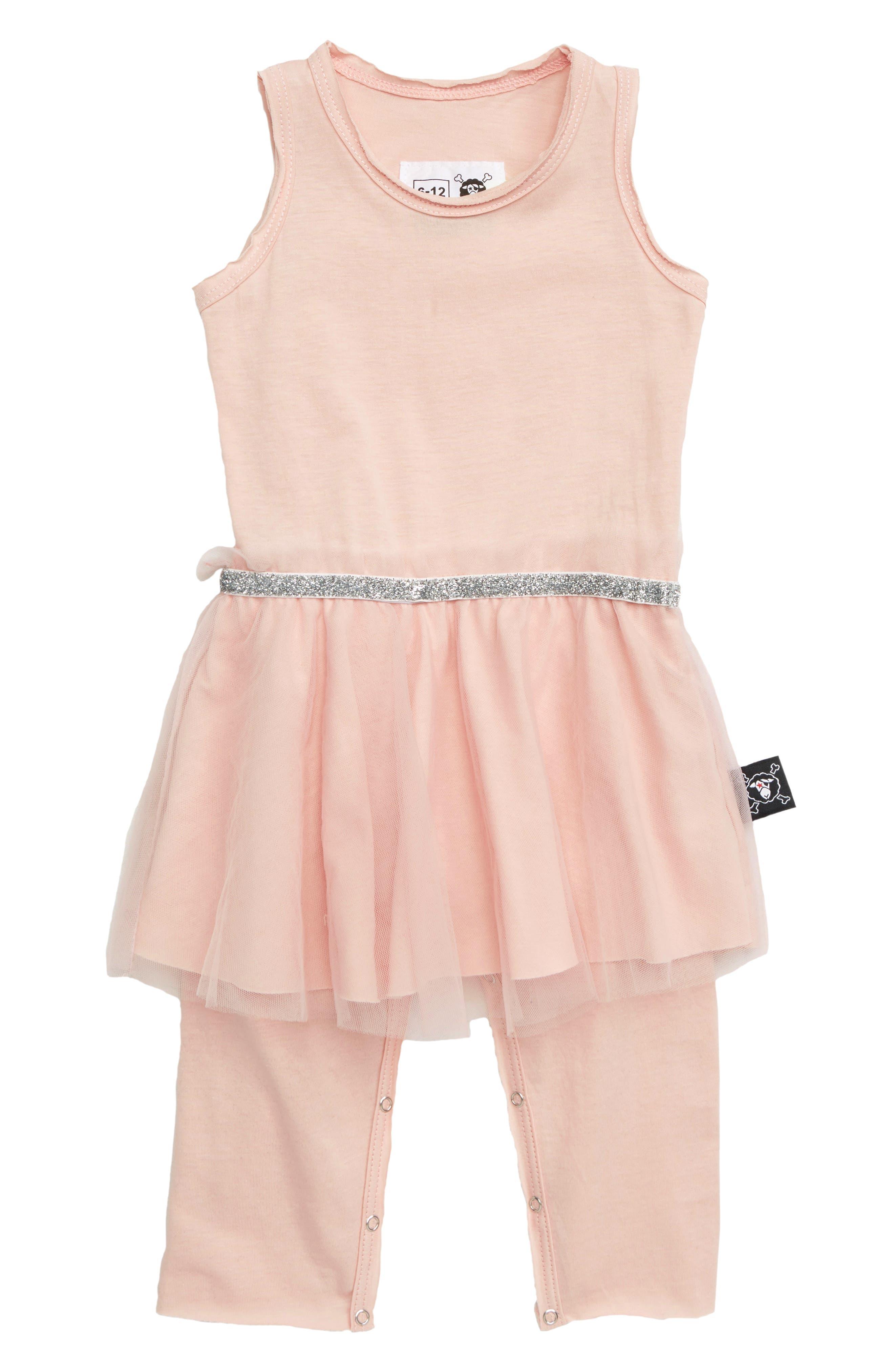 Tulle Skirt Romper, Main, color, POWDER PINK