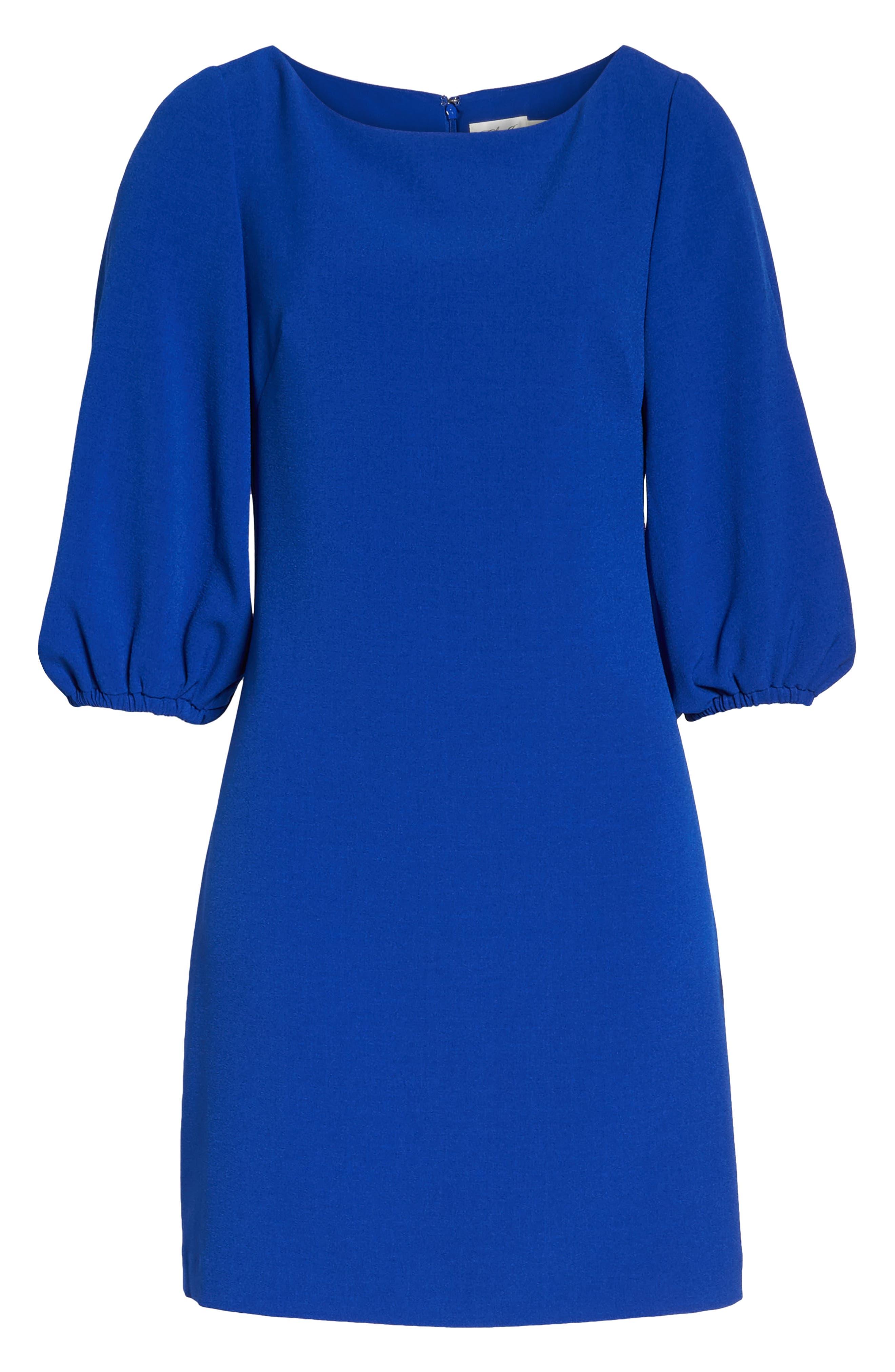 Bloused Sleeve Shift Dress,                             Alternate thumbnail 18, color,