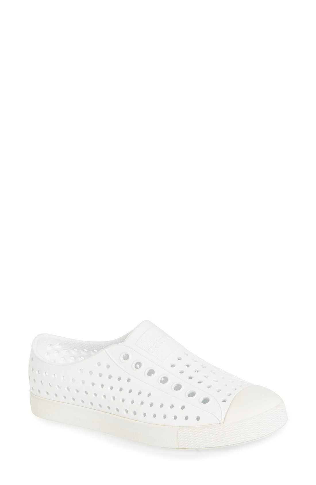 Native Shoes Jefferson Vegan Perforated Sneaker, White