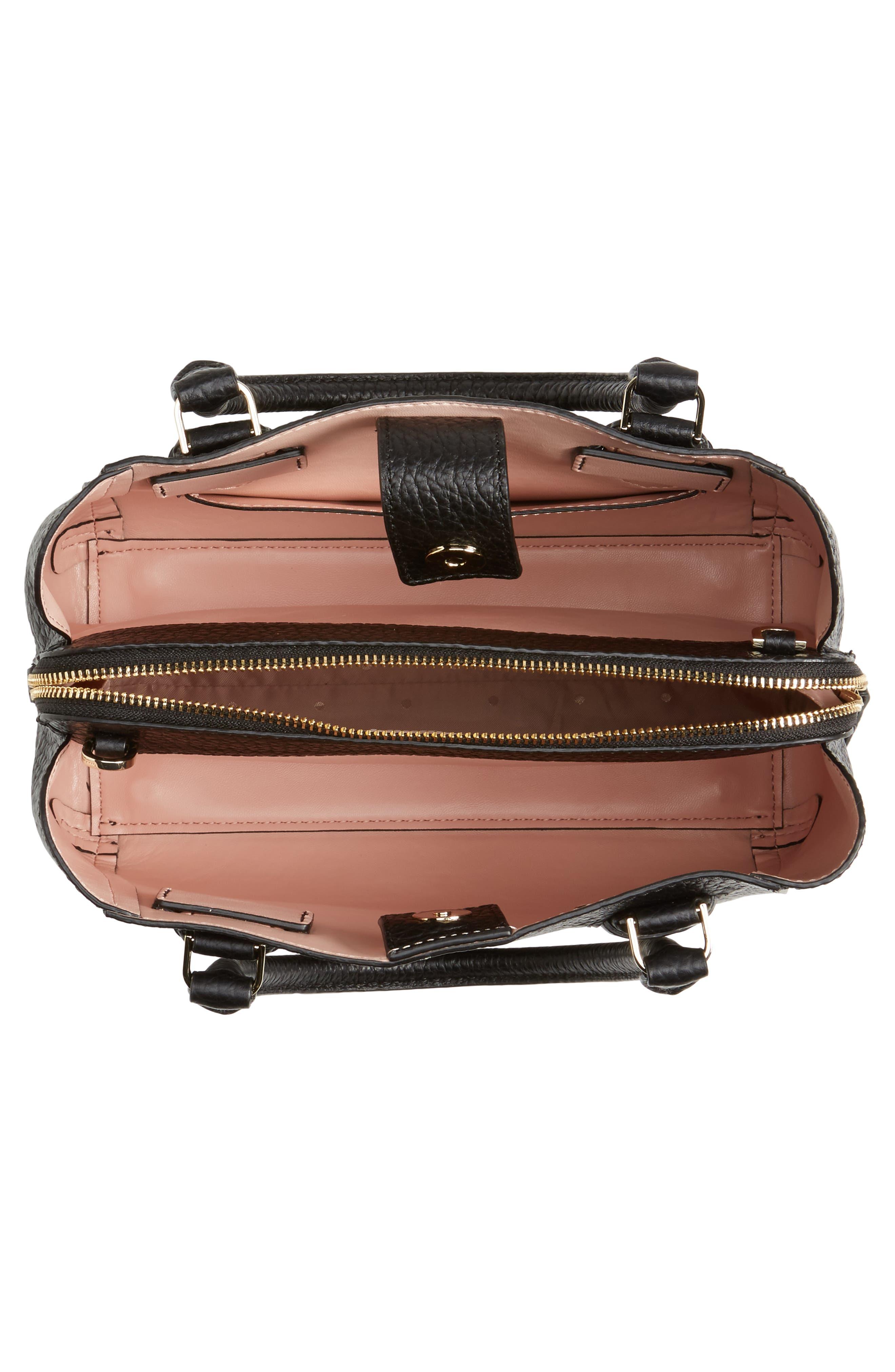 carter street - aliana leather satchel,                             Alternate thumbnail 4, color,                             001