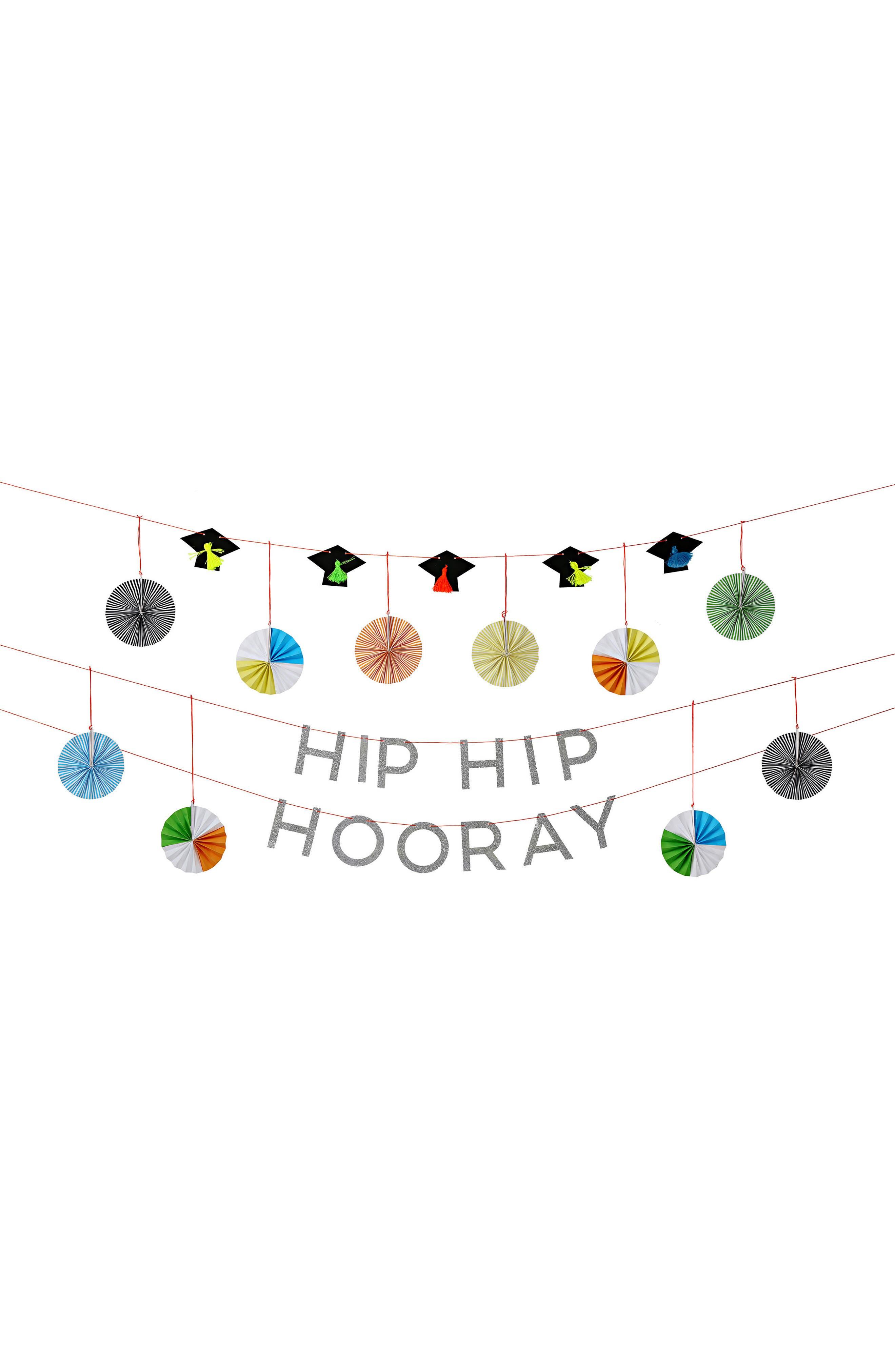 Hip Hip Hooray Graduation Party Garland Kit,                             Alternate thumbnail 2, color,