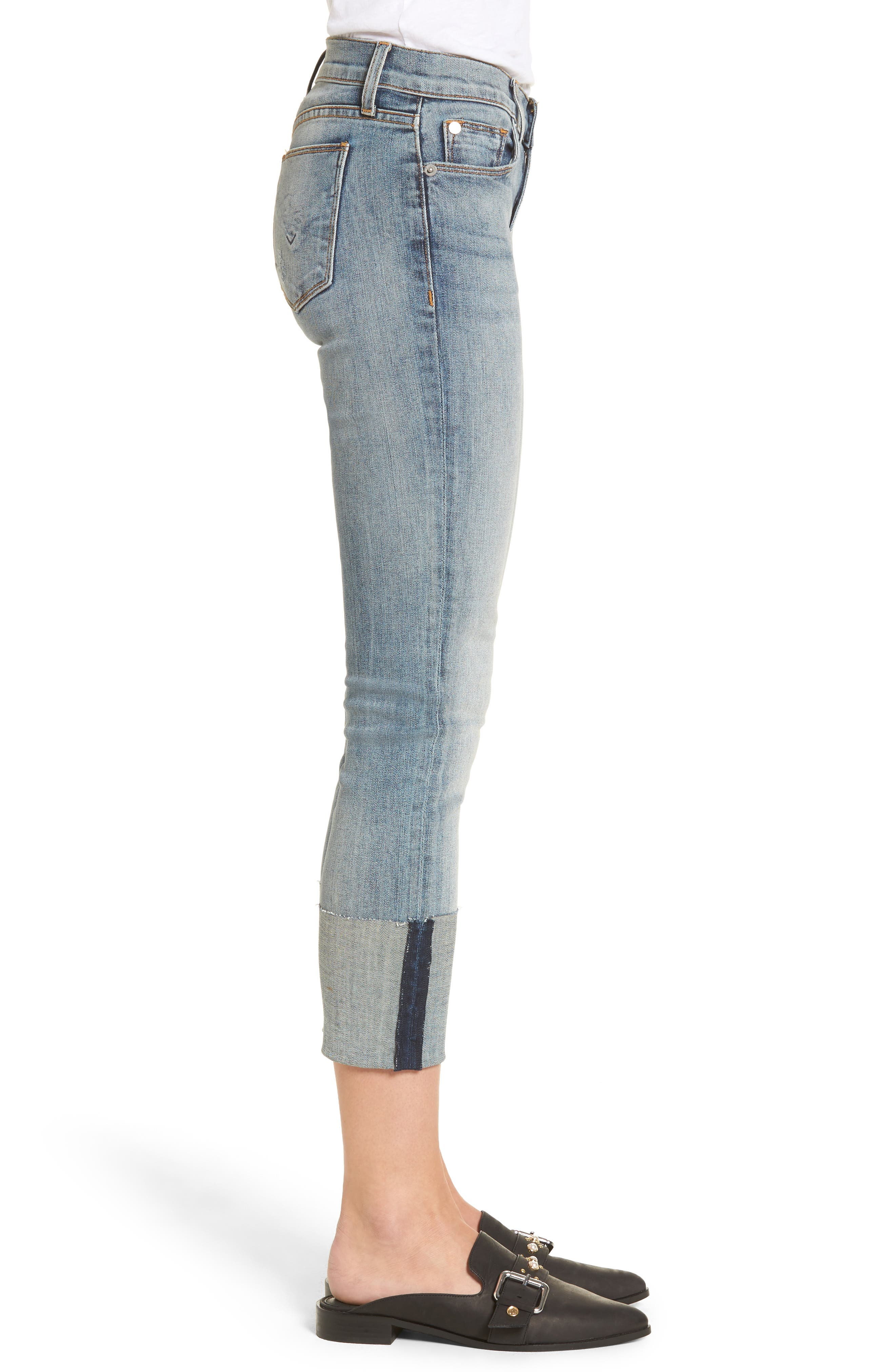 Tally Cuffed Crop Skinny Jeans,                             Alternate thumbnail 9, color,