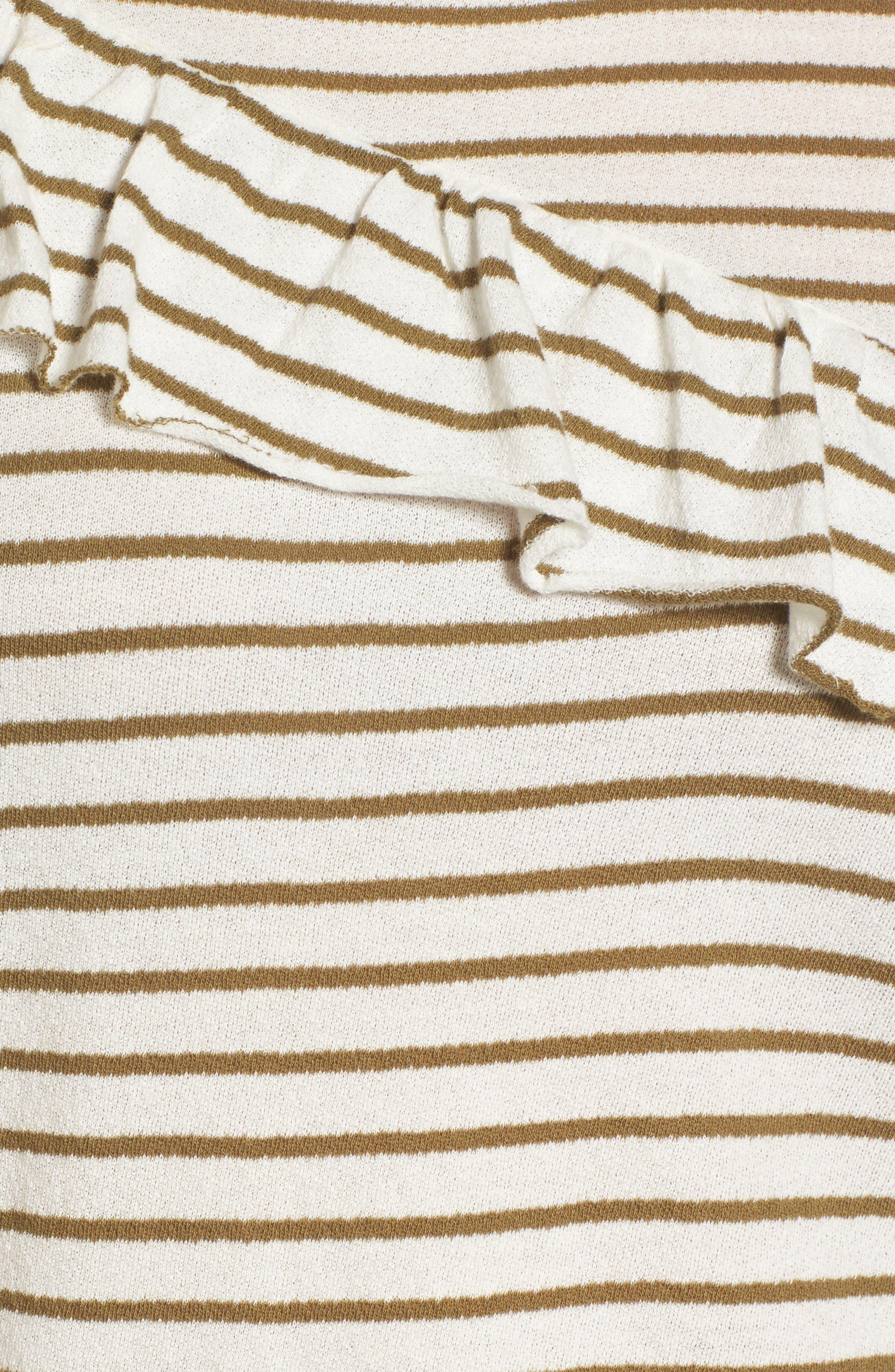 Stripe Asymmetrical Ruffle Top,                             Alternate thumbnail 5, color,                             310