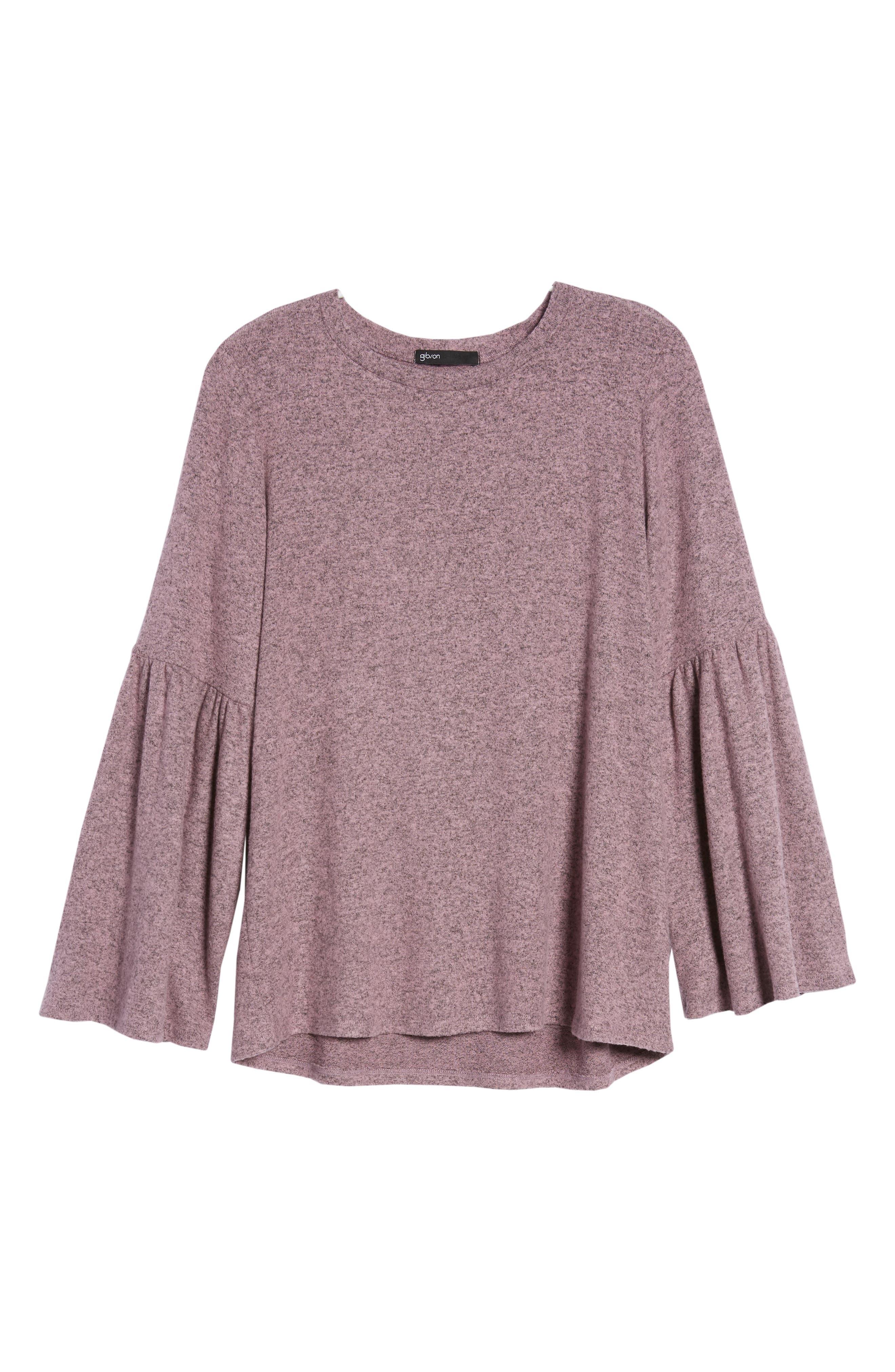 Bell Sleeve Cozy Fleece Pullover,                             Alternate thumbnail 64, color,