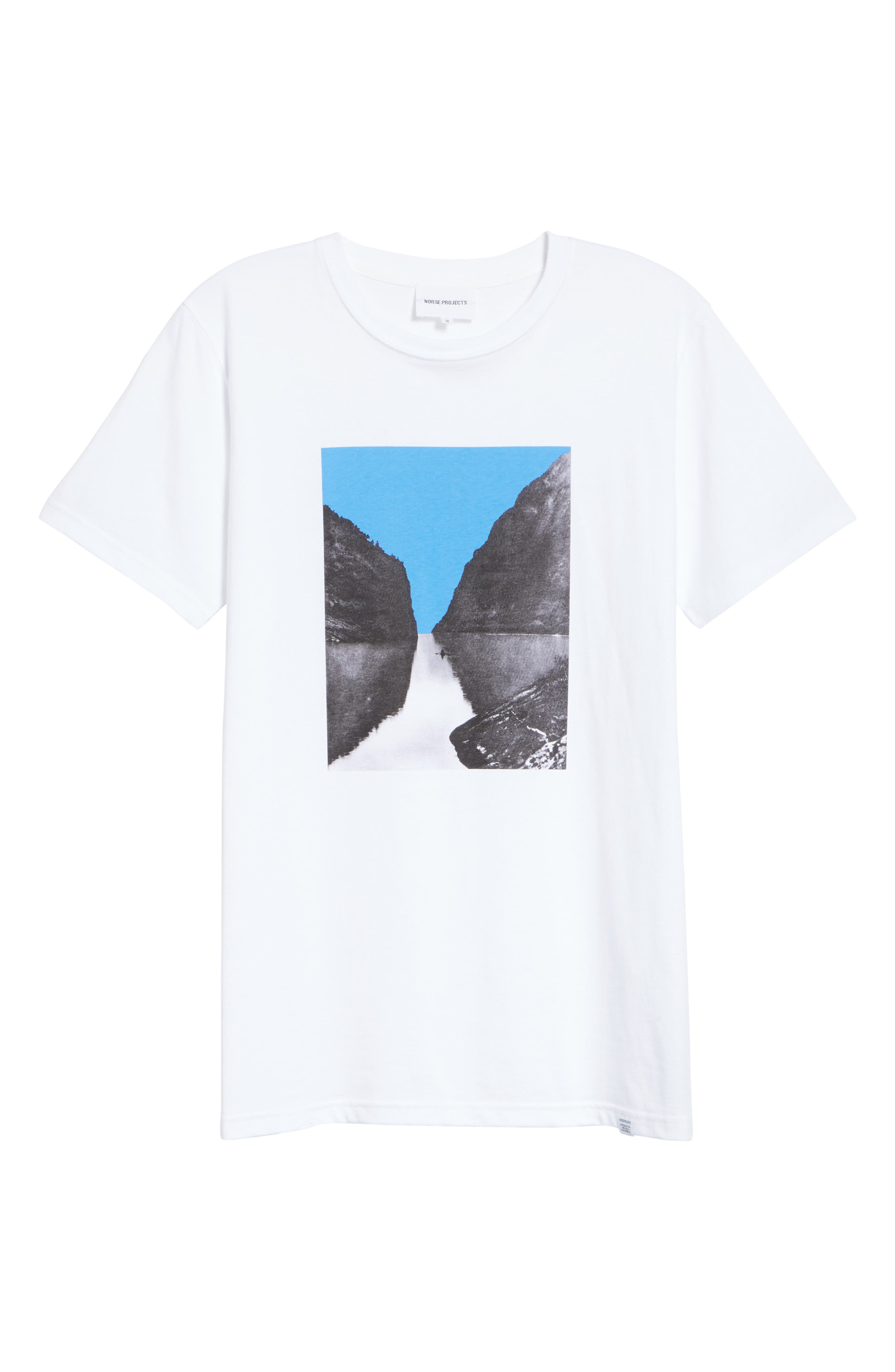 Niels Nærøyfjord Graphic T-Shirt,                             Alternate thumbnail 6, color,                             WHITE
