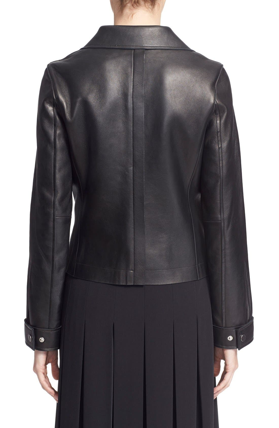 GREY Jason Wu Lambskin Leather Jacket,                             Alternate thumbnail 5, color,                             015
