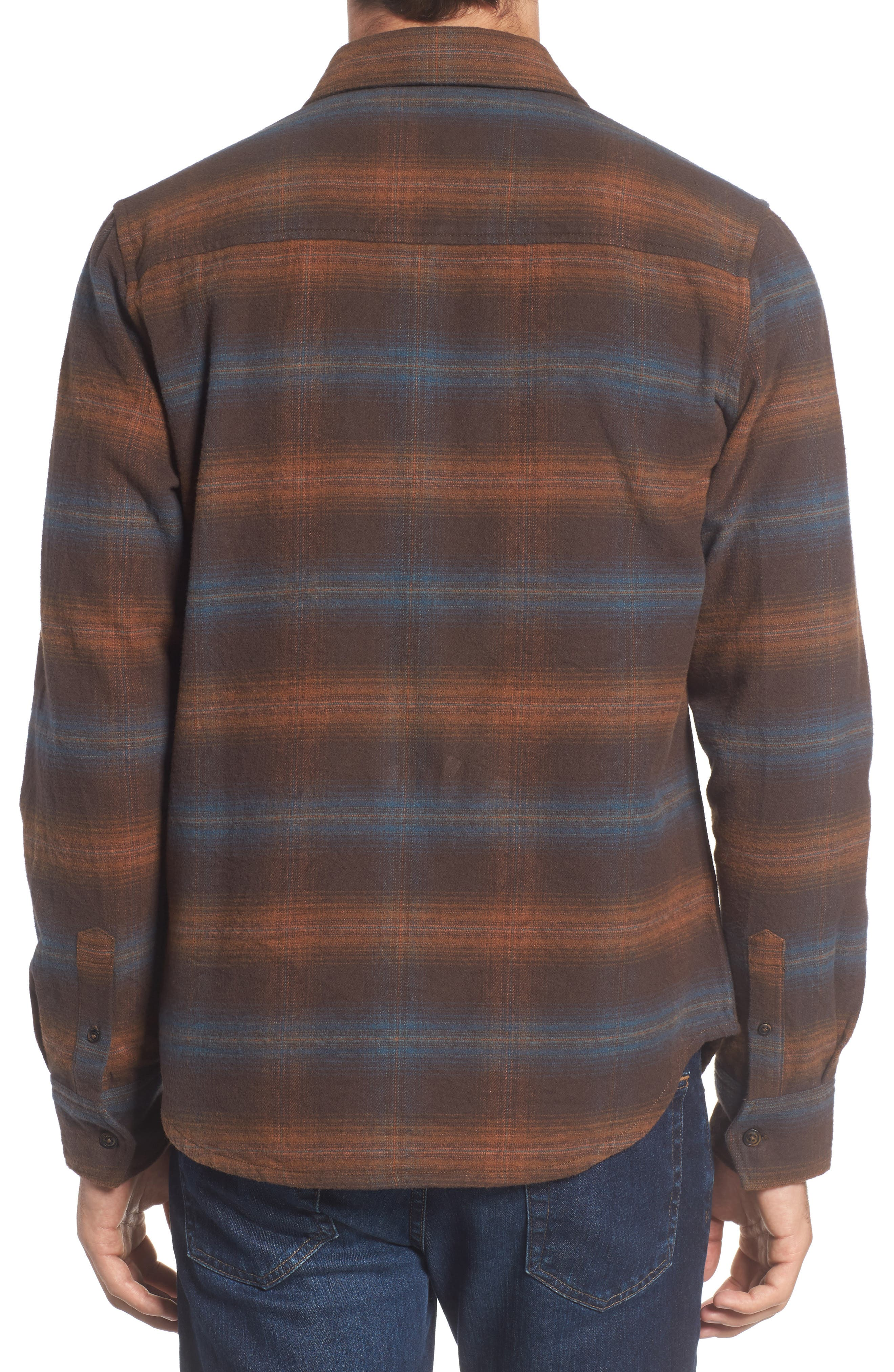 Canyon Plaid Brushed Twill Shirt,                             Alternate thumbnail 2, color,                             200