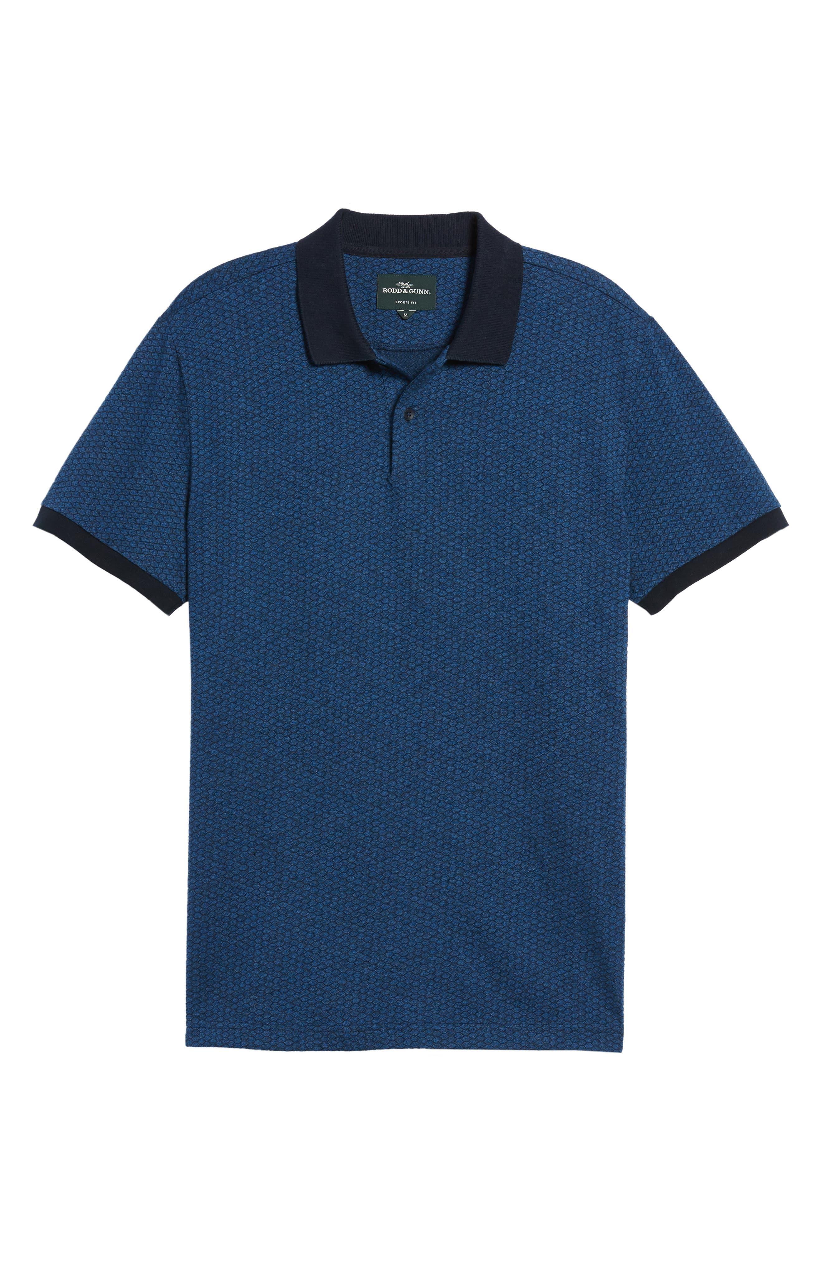 RODD & GUNN,                             Mantle Hill Sports Fit Polo,                             Alternate thumbnail 6, color,                             433