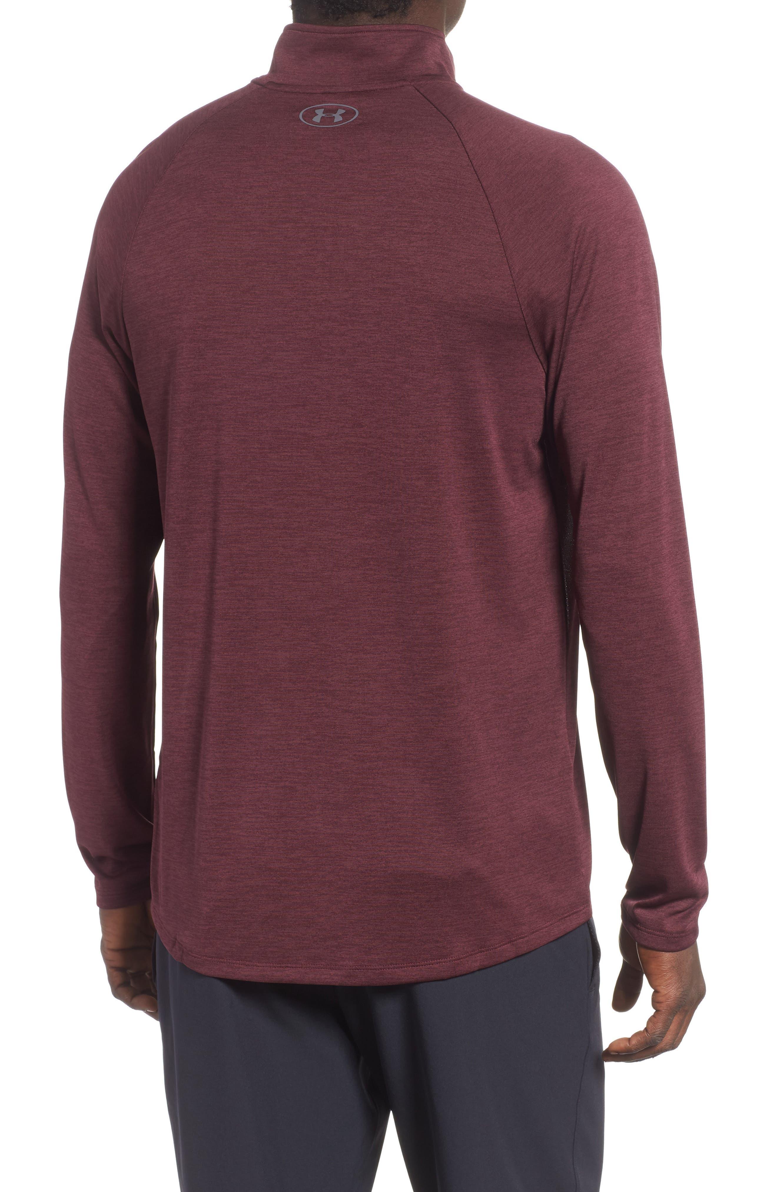UNDER ARMOUR,                             Tech Half Zip Sweatshirt,                             Alternate thumbnail 2, color,                             600